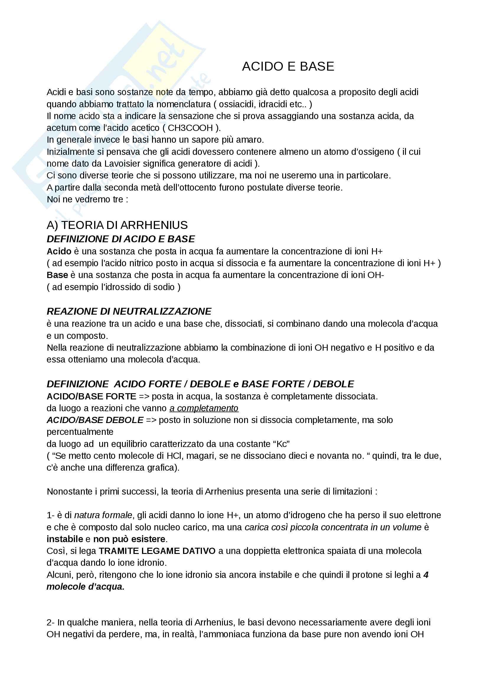 appunto C. Coletti CHIMICA GENERALE ED INORGANICA
