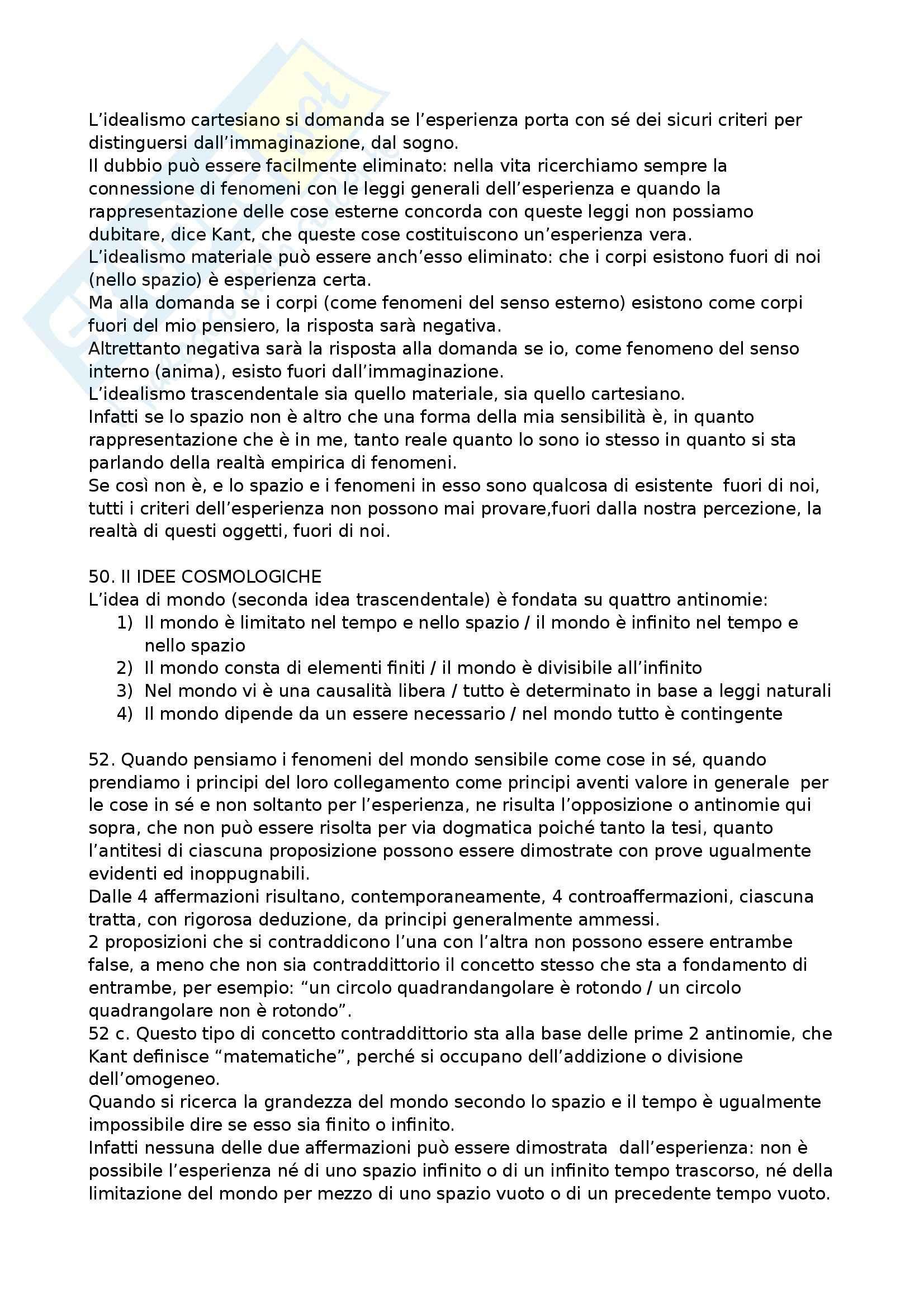 Riassunto esame Storia della filosofia, prof. Mori, libro consigliato Prolegomeni ad ogni metafisica futura che vorrà presentarsi come scienza, Kant Pag. 11