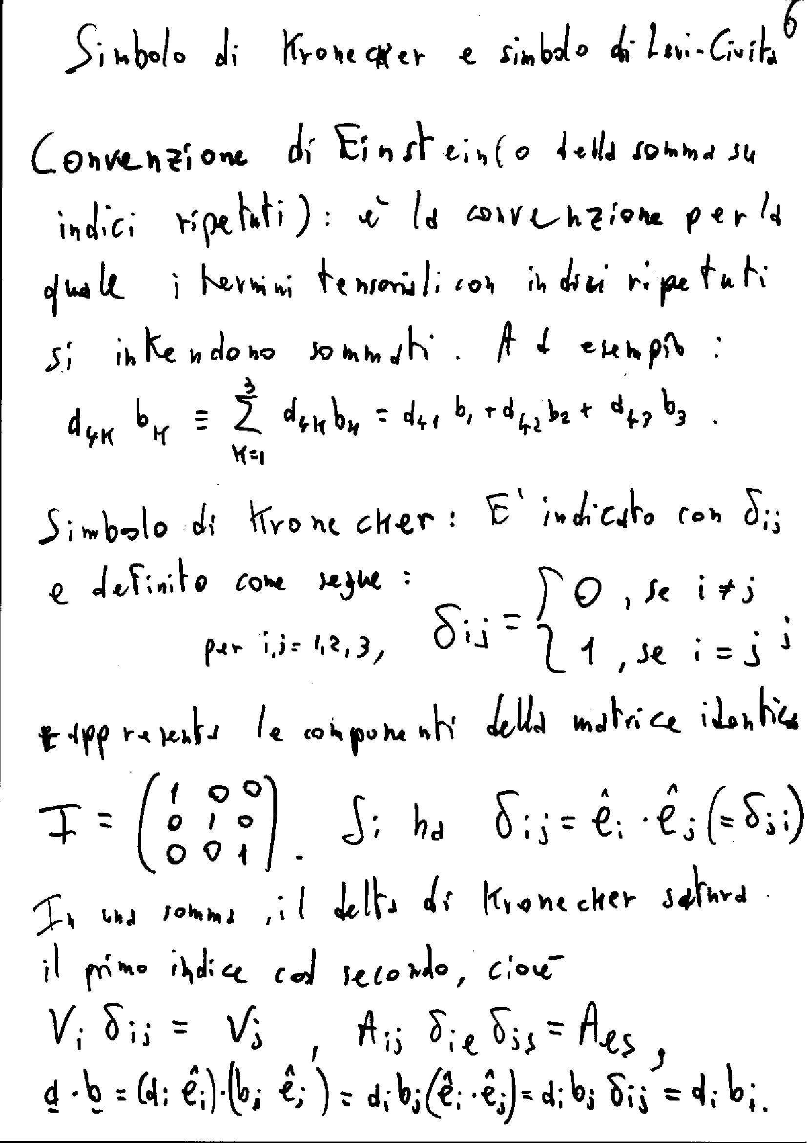 Kronecker e Levi-Civita - Simboli