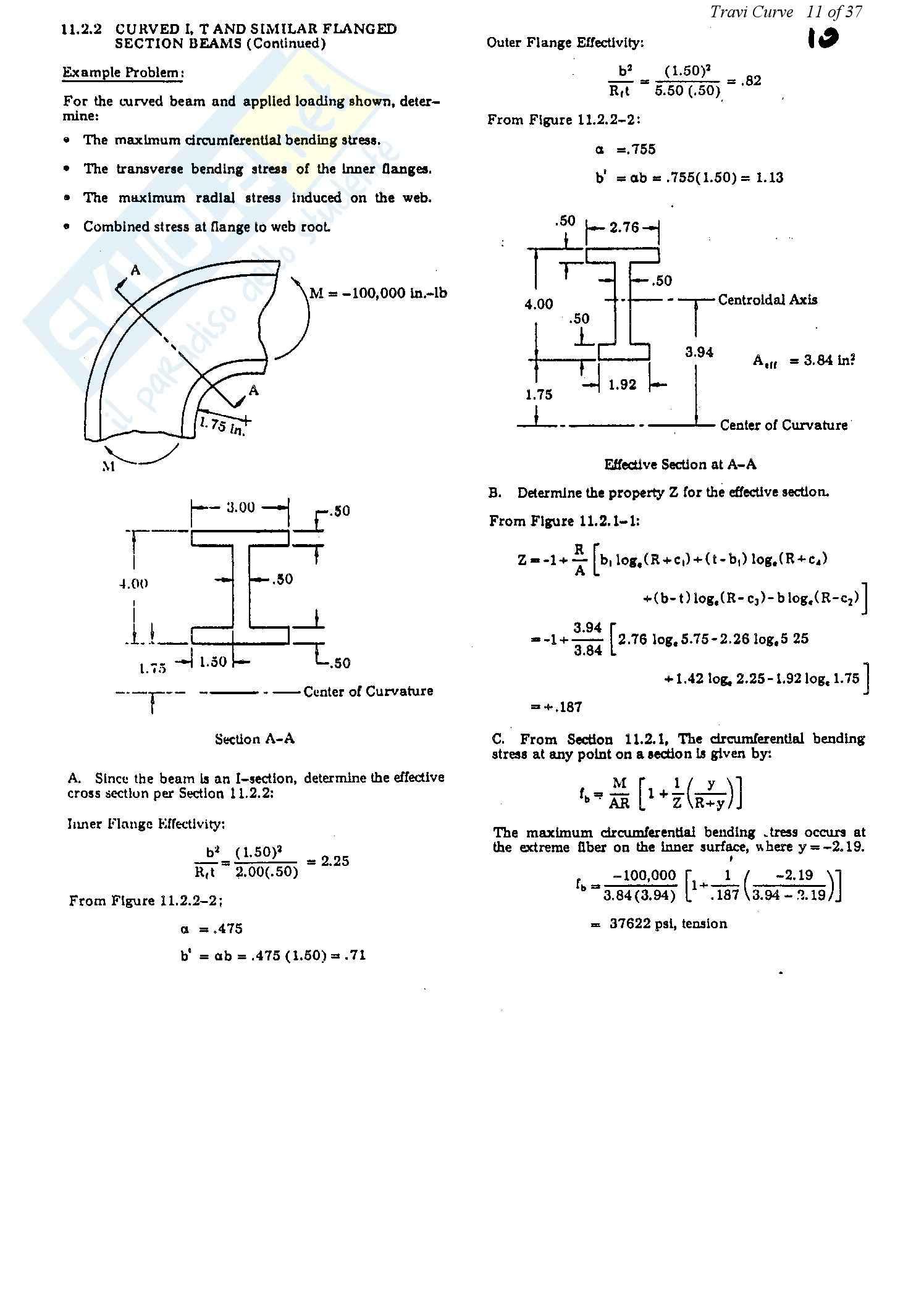 Teoria e progetto dei ponti - travi curve Pag. 11
