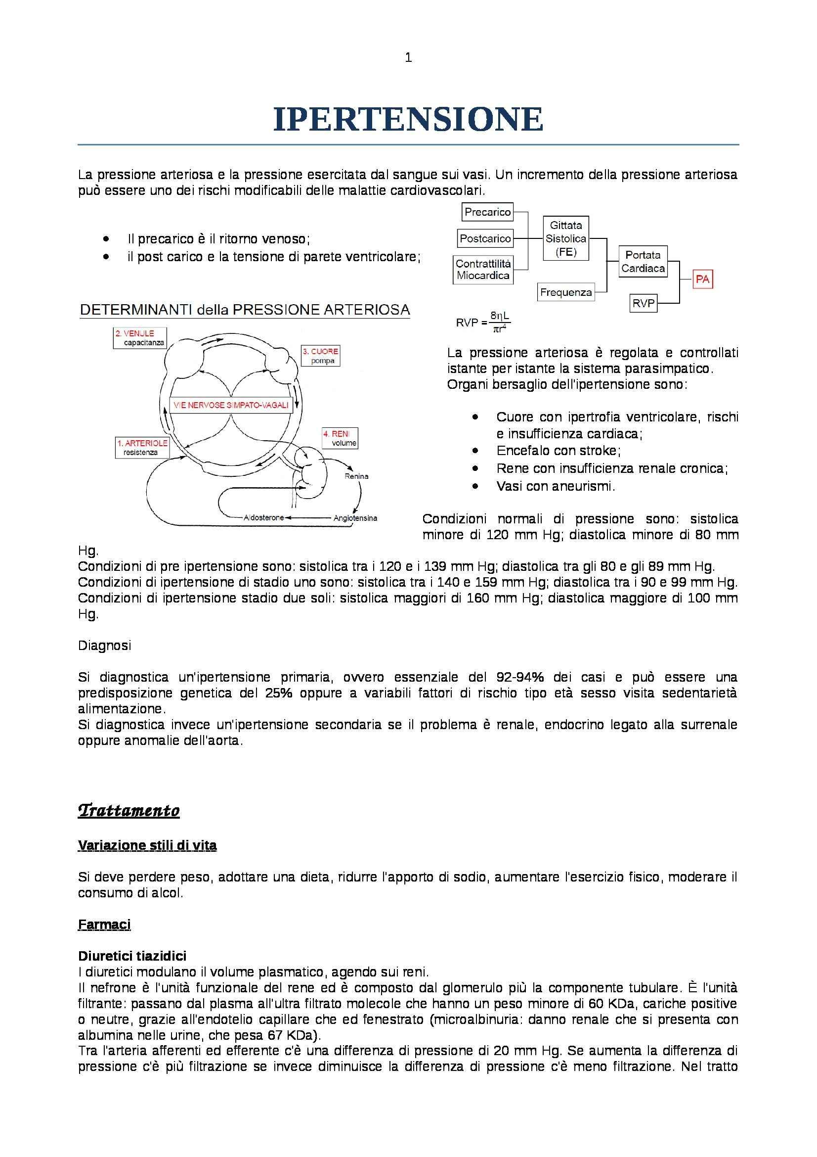 Farmacologia - ipertensione