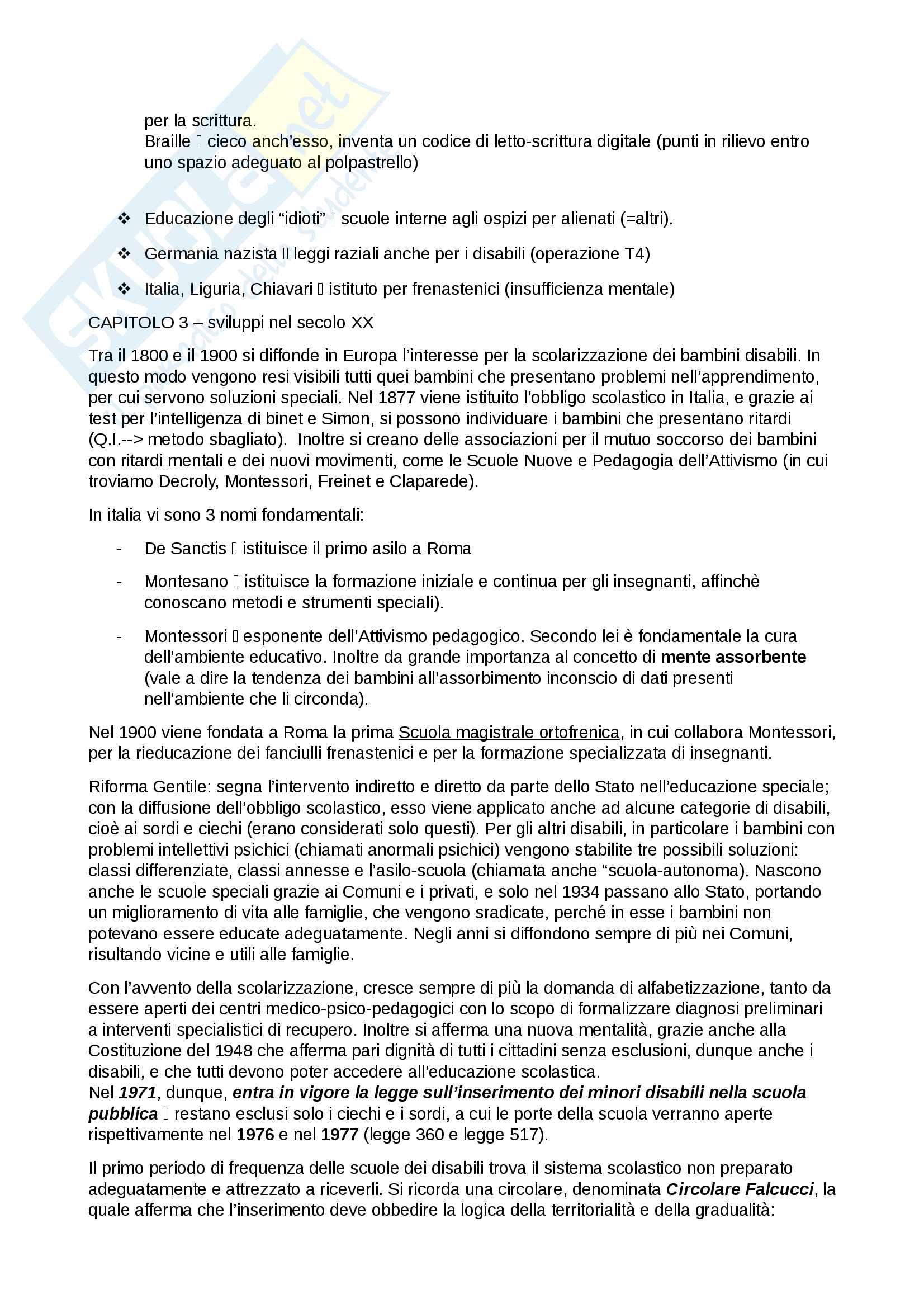 Riassunto esame pedagogia speciale,prof. Pavone, libro consigliato Inclusione Educativa, Pavone Pag. 6