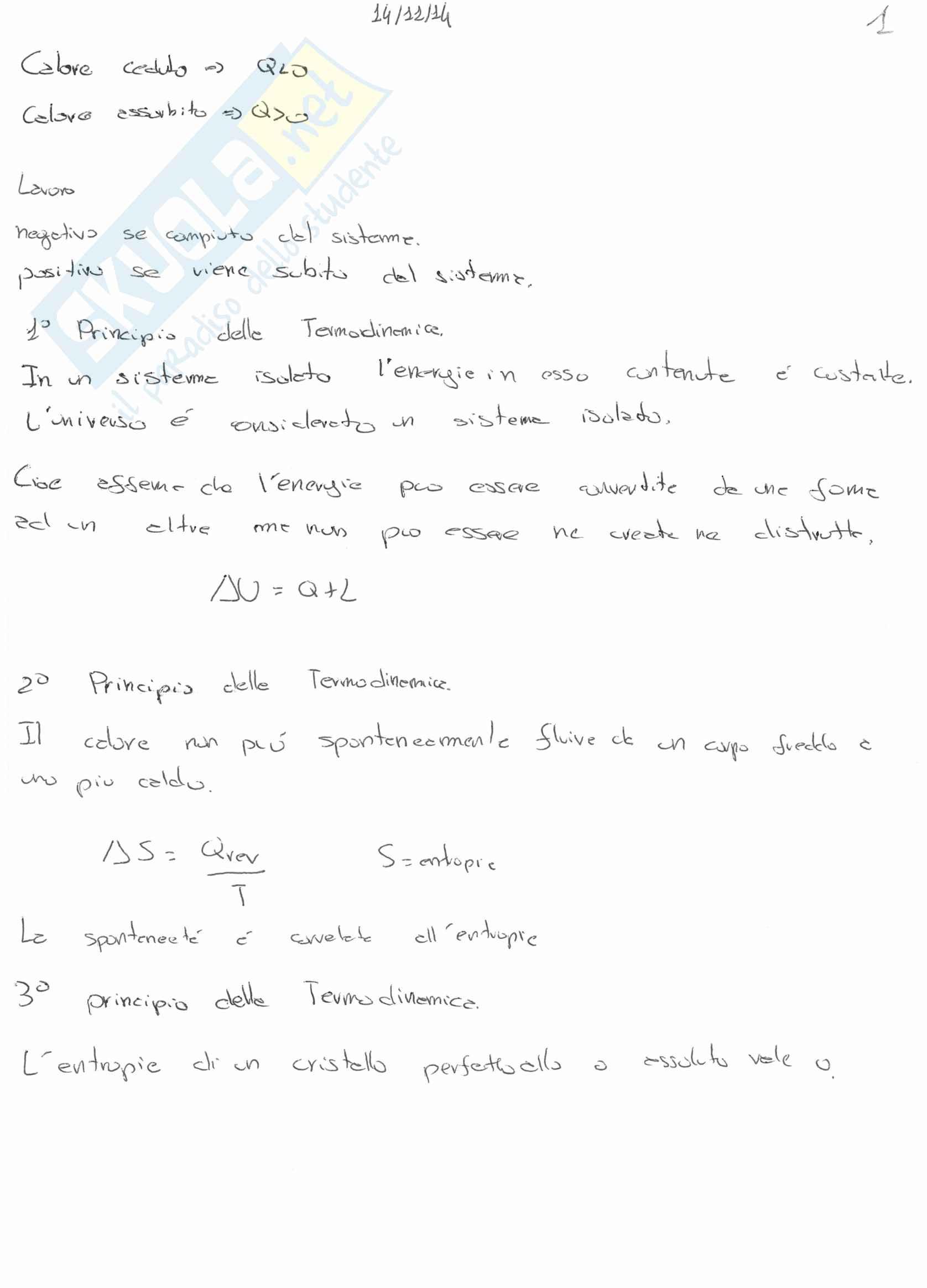 appunto M. Feroci Chimica generale