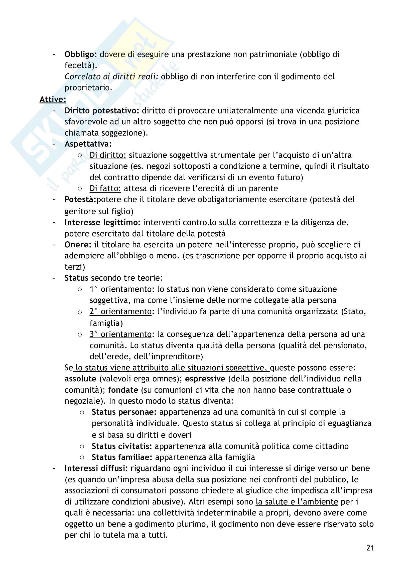 Riassunto esame Introduzione al Diritto privato, prof Perlingieri, libro consigliato Nozioni introduttive e principi fondamentali del diritto civile, Perlingieri, Femia Pag. 21