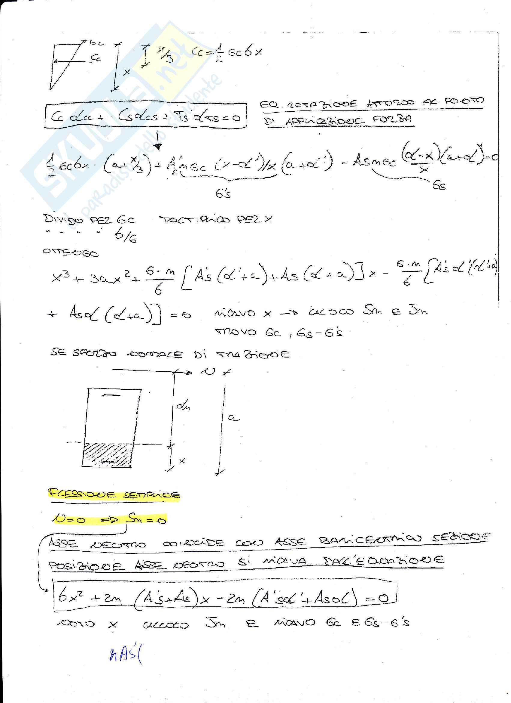 Esercizi e appunti di Cemento Armato Pag. 31