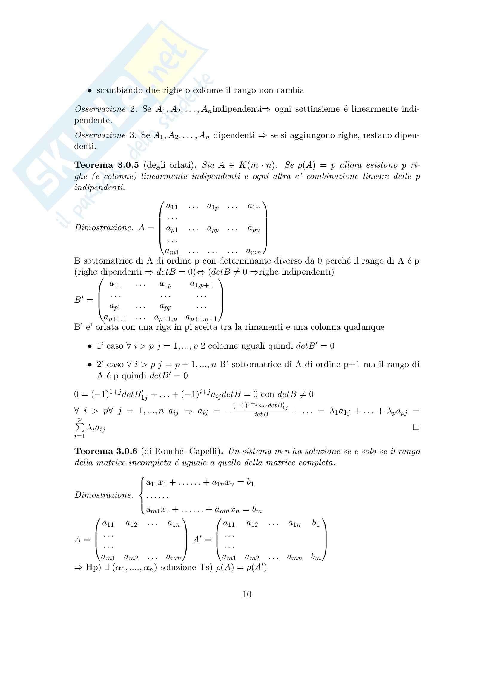Algebra lineare e geometria - Appunti Pag. 11