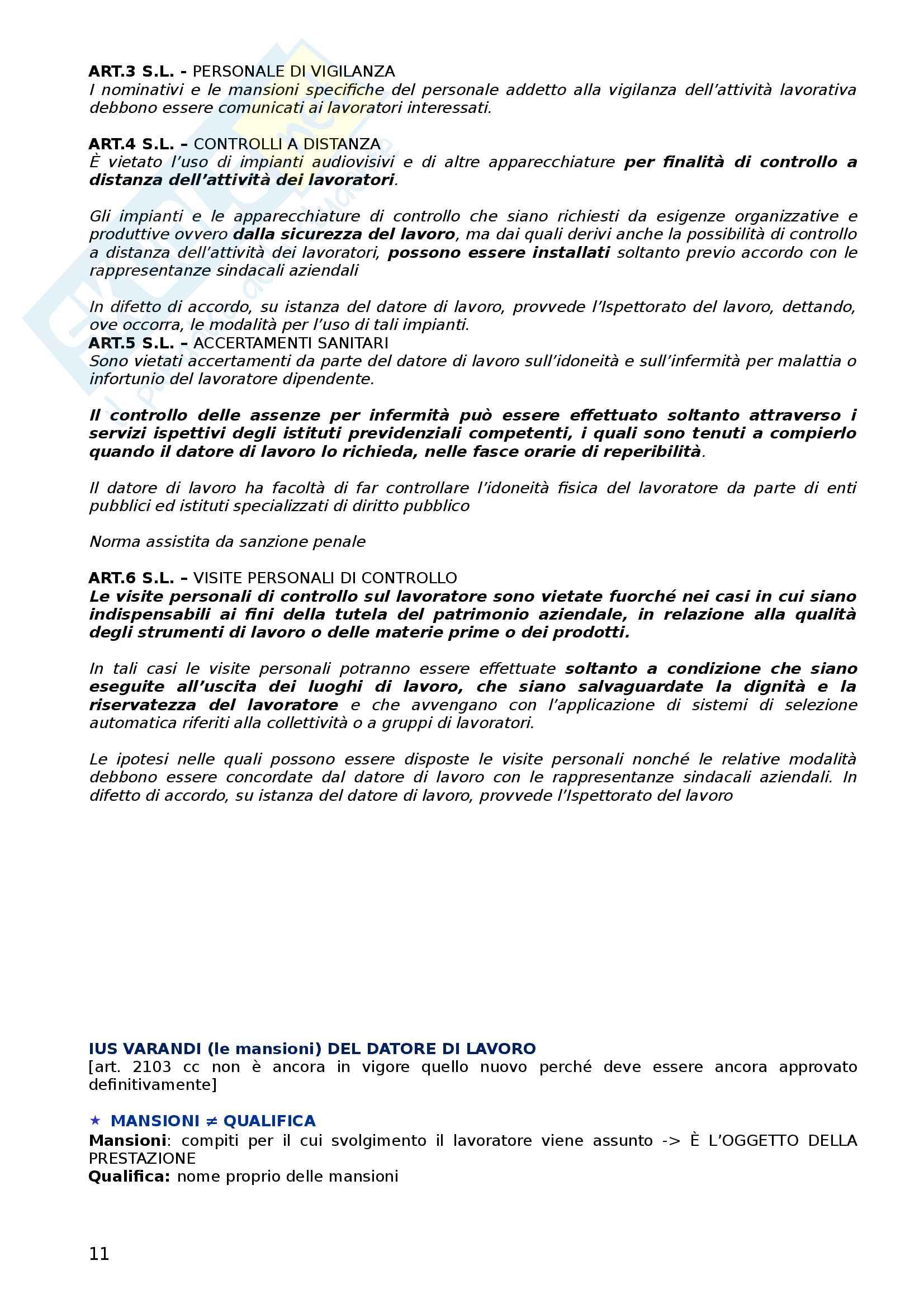 Diritto del lavoro (appunti) Pag. 11