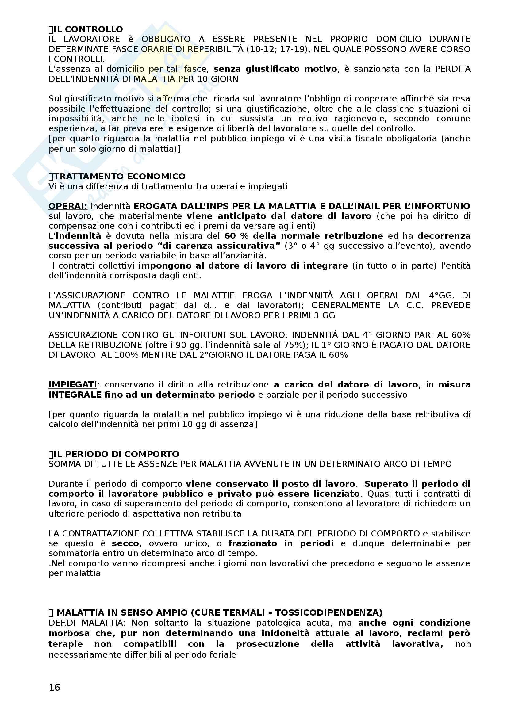 Diritto del lavoro (appunti) Pag. 16