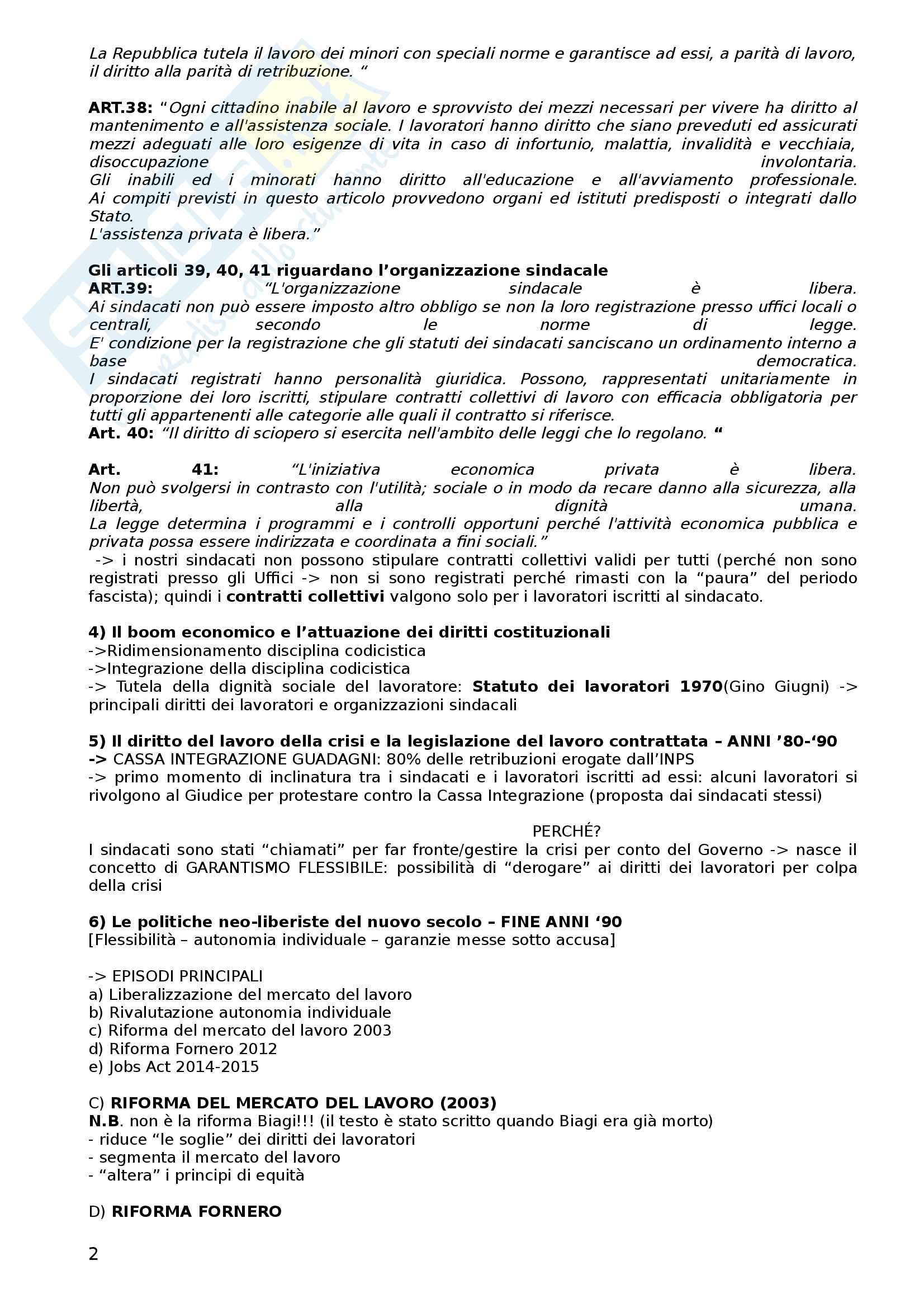 Diritto del lavoro (appunti) Pag. 2