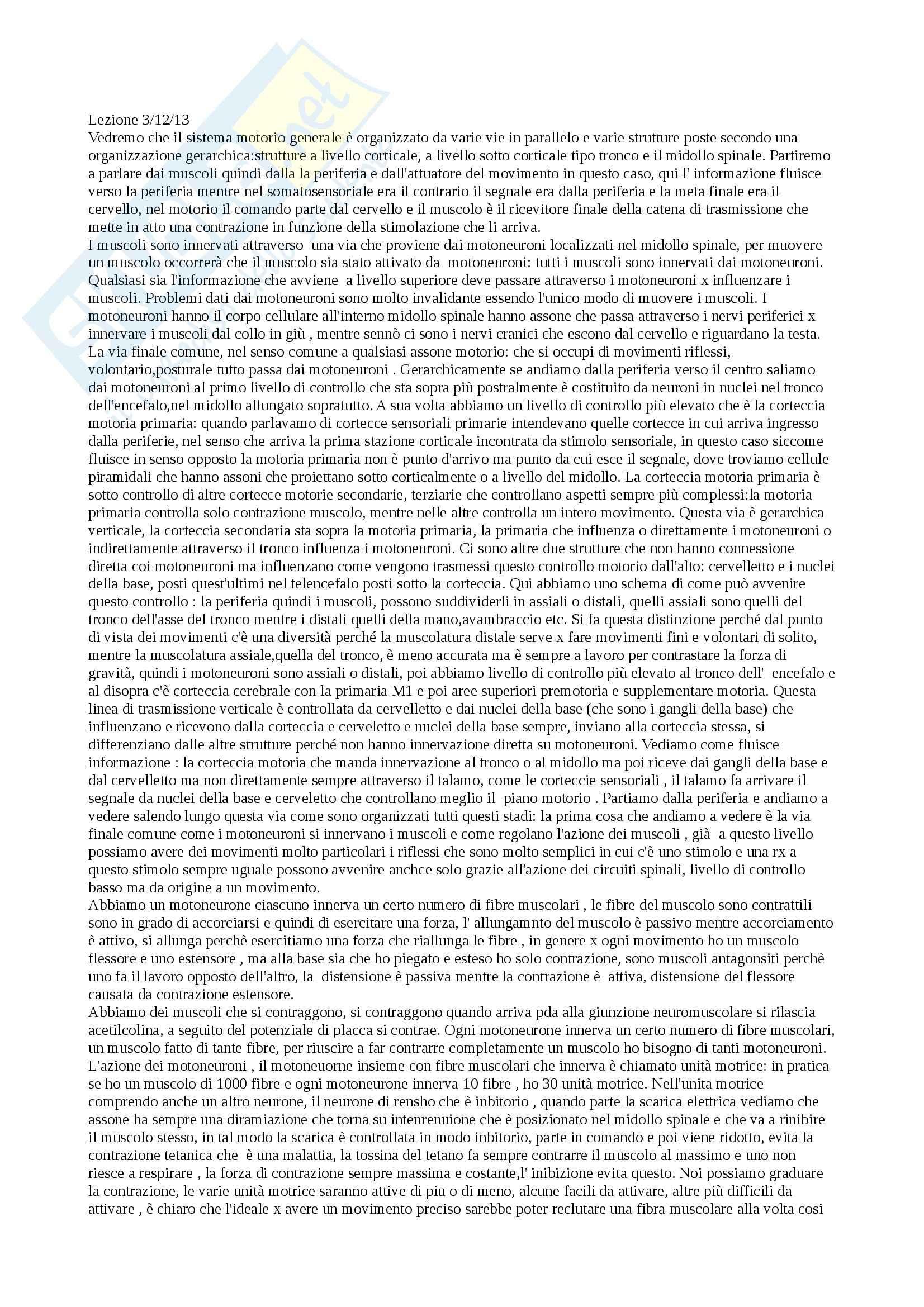 Fondamenti anatomo-fisiologici dell'attività psichica - Appunti
