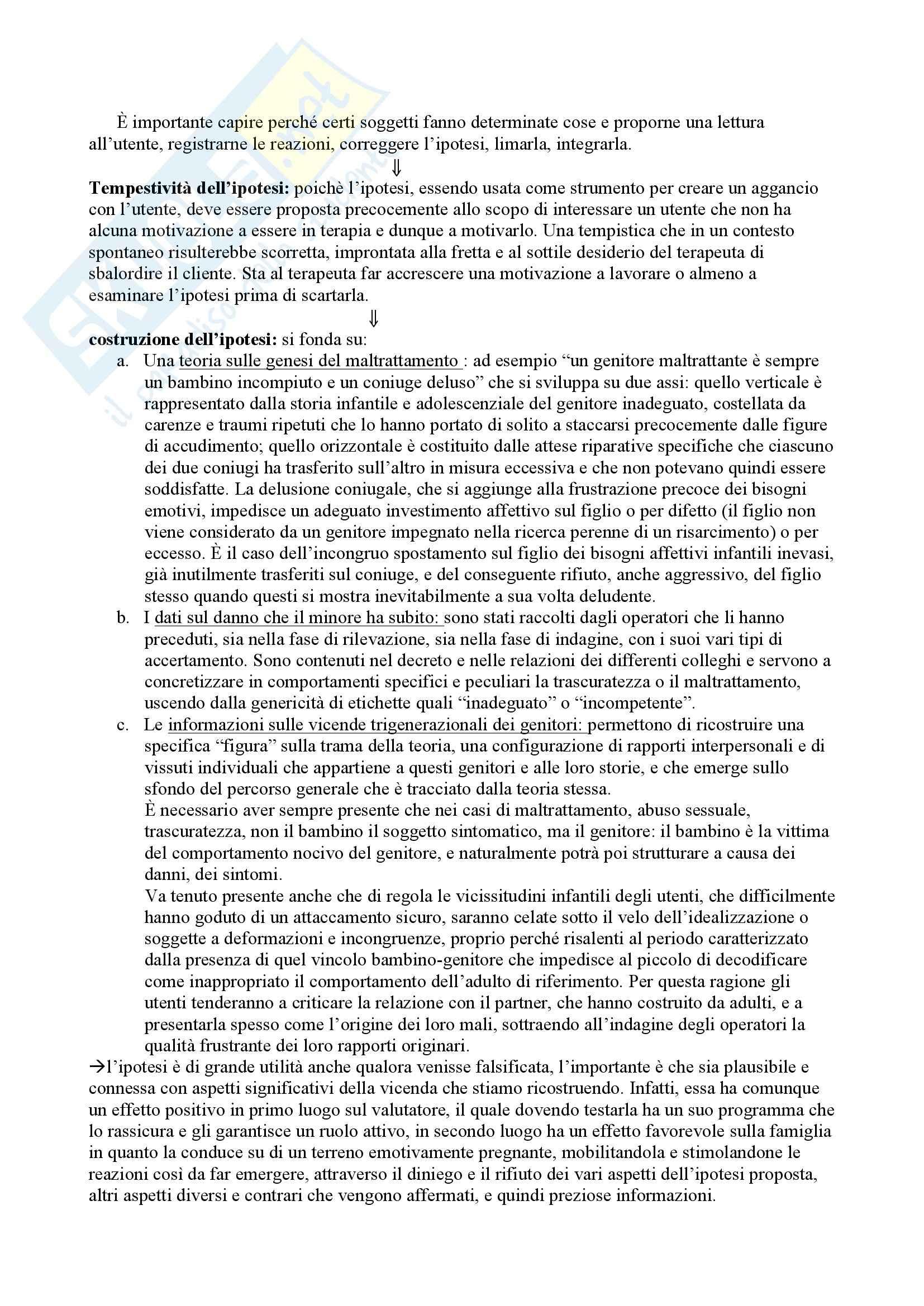 Riassunto esame Modelli di intervento e contesti di tutela, prof. Marchesi, libro consigliato Cattivi genitori, Cirillo Pag. 21