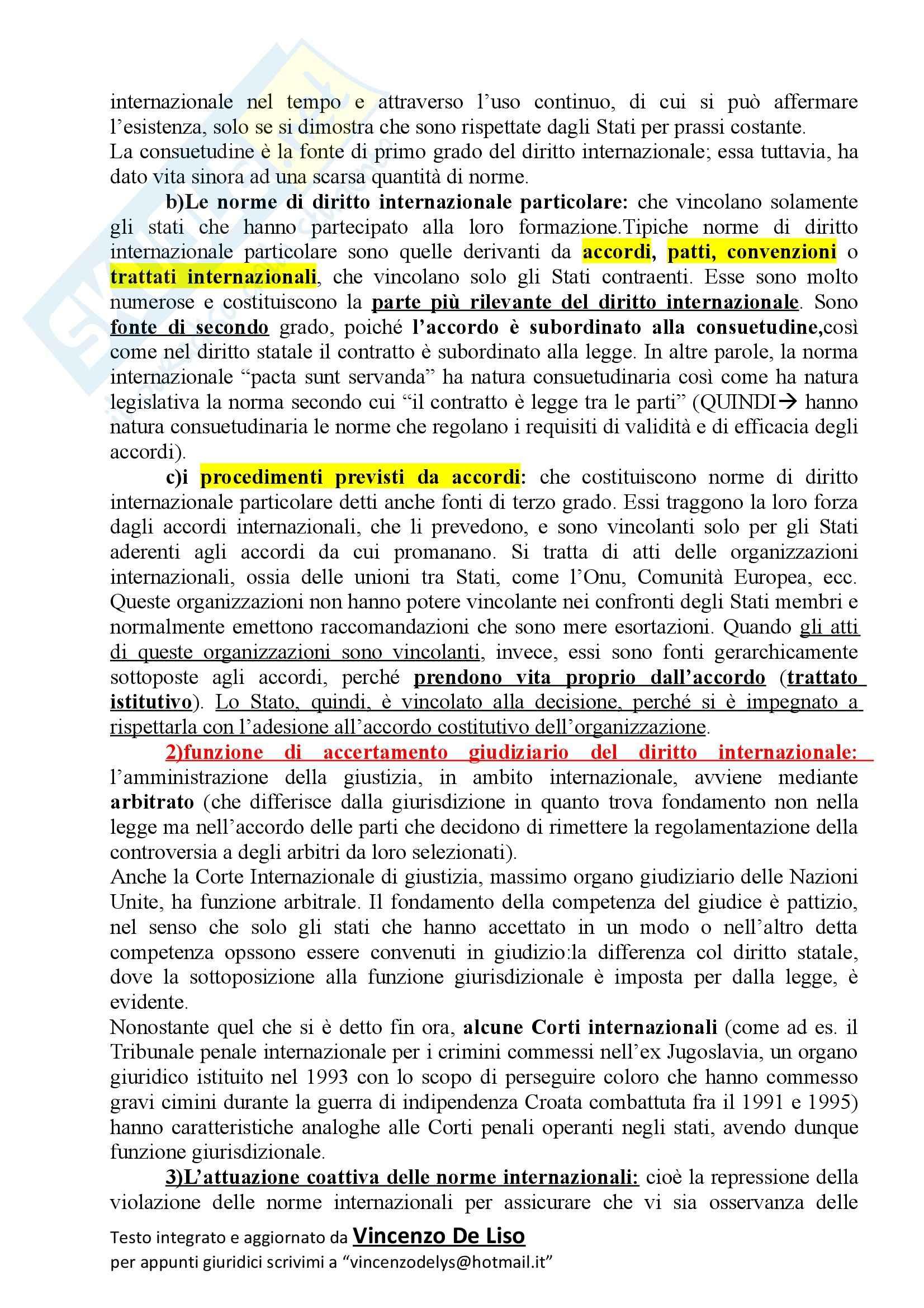 Riassunto esame Diritto Internazionale, prof. Massimo, libro consigliato CONFORTI Pag. 2