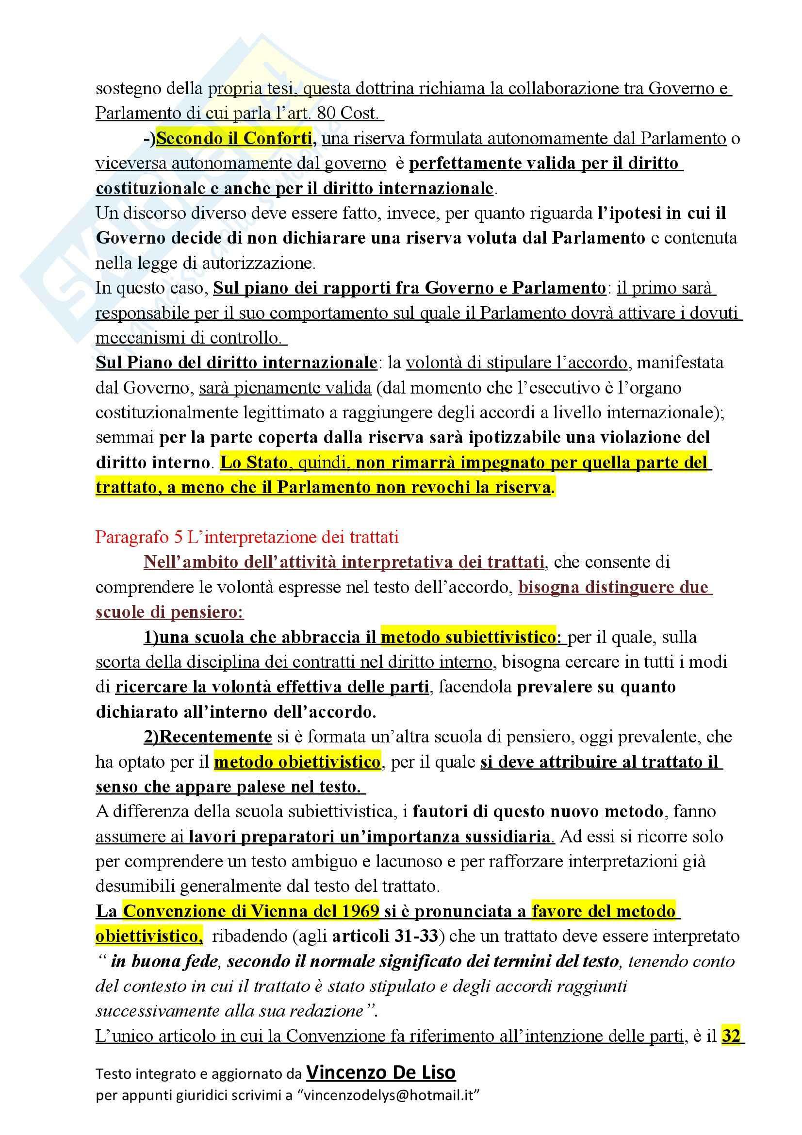 Riassunto esame Diritto Internazionale, prof. Massimo, libro consigliato CONFORTI Pag. 36