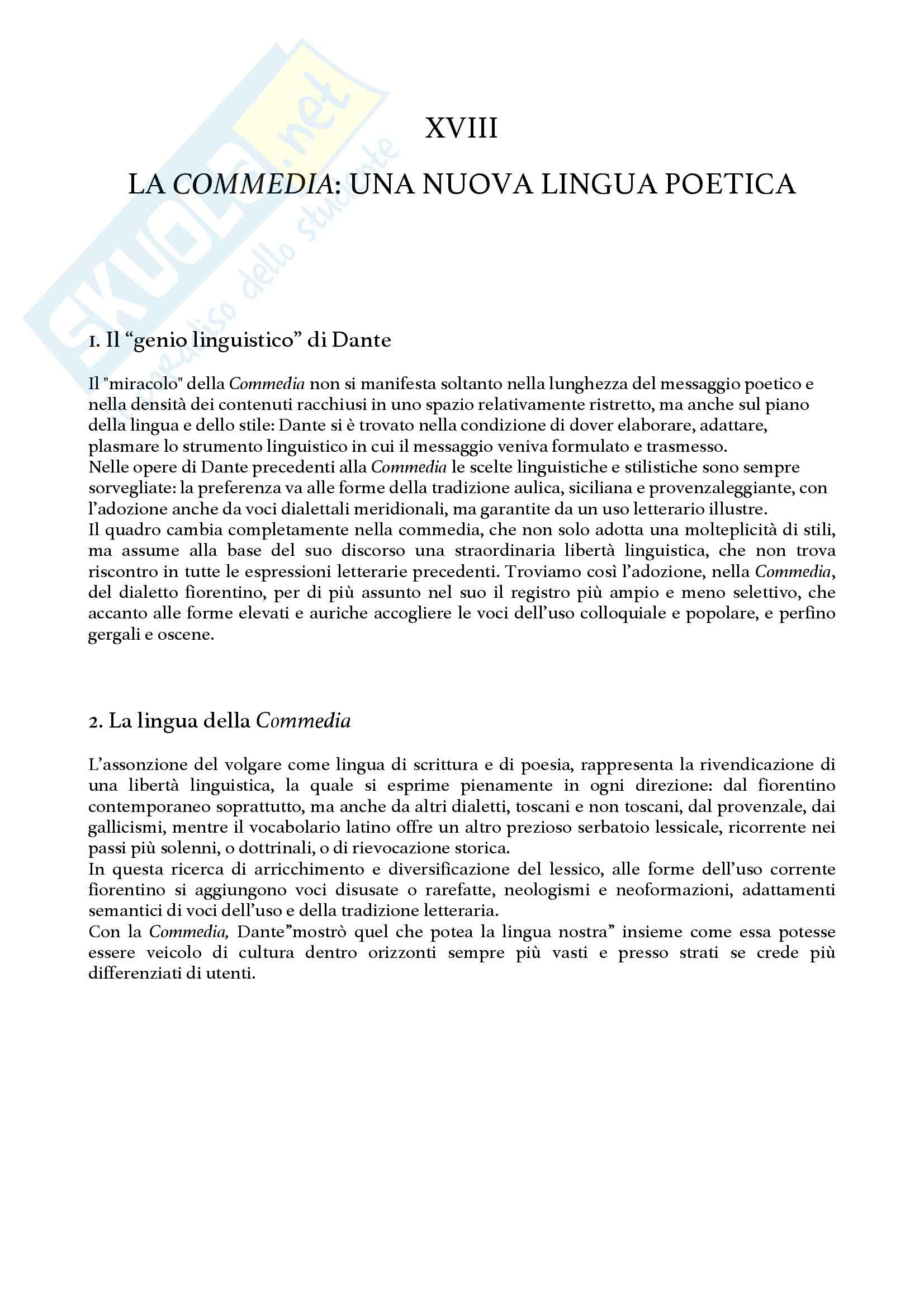 Riassunto esame Critica dantesca, prof. Mattioli, libro consigliato Dante, Malato Pag. 41