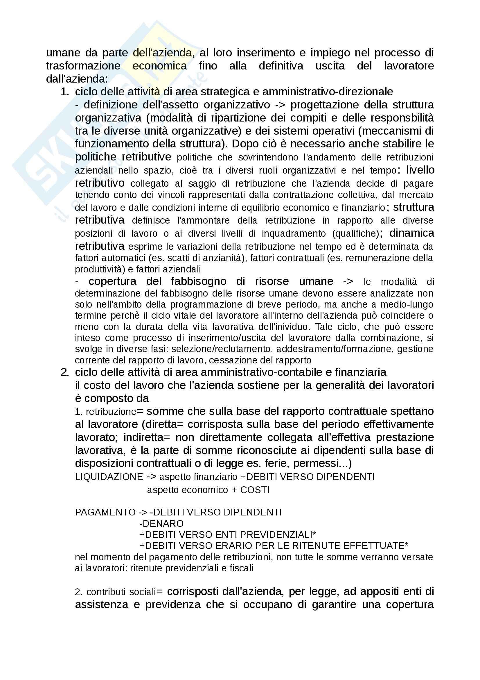 sunto Economia, prof. Paolini, libro consigliato Introduzione all'economia aziendale, Ricci Pag. 26