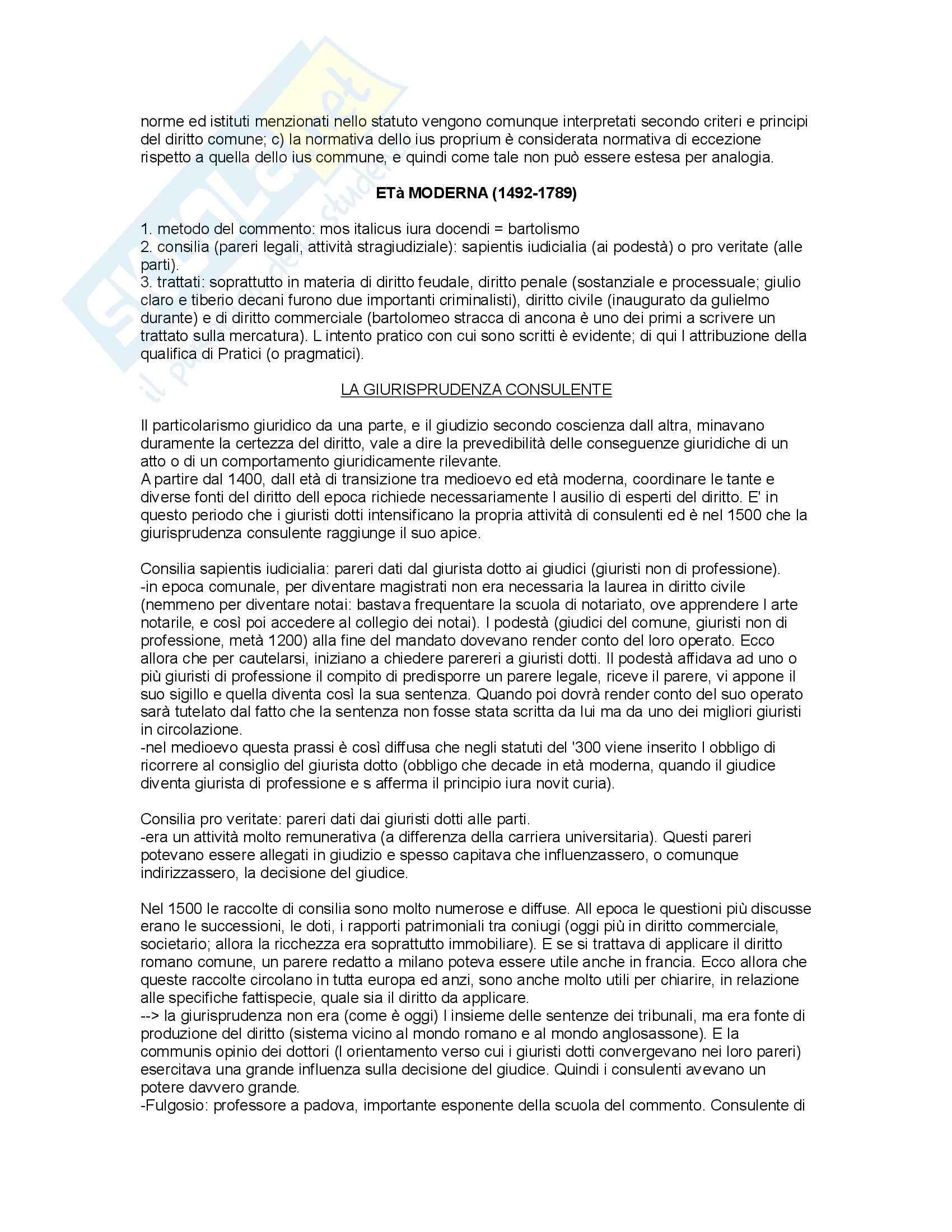 Storia del diritto in Europa - Padoa Schioppa - Riassunto esame, prof. Miglierino Pag. 11