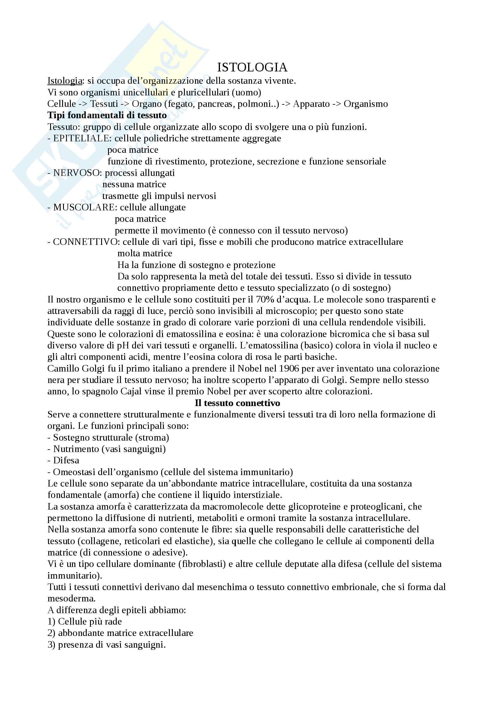 appunto A. Follenzi Scienze morfologiche