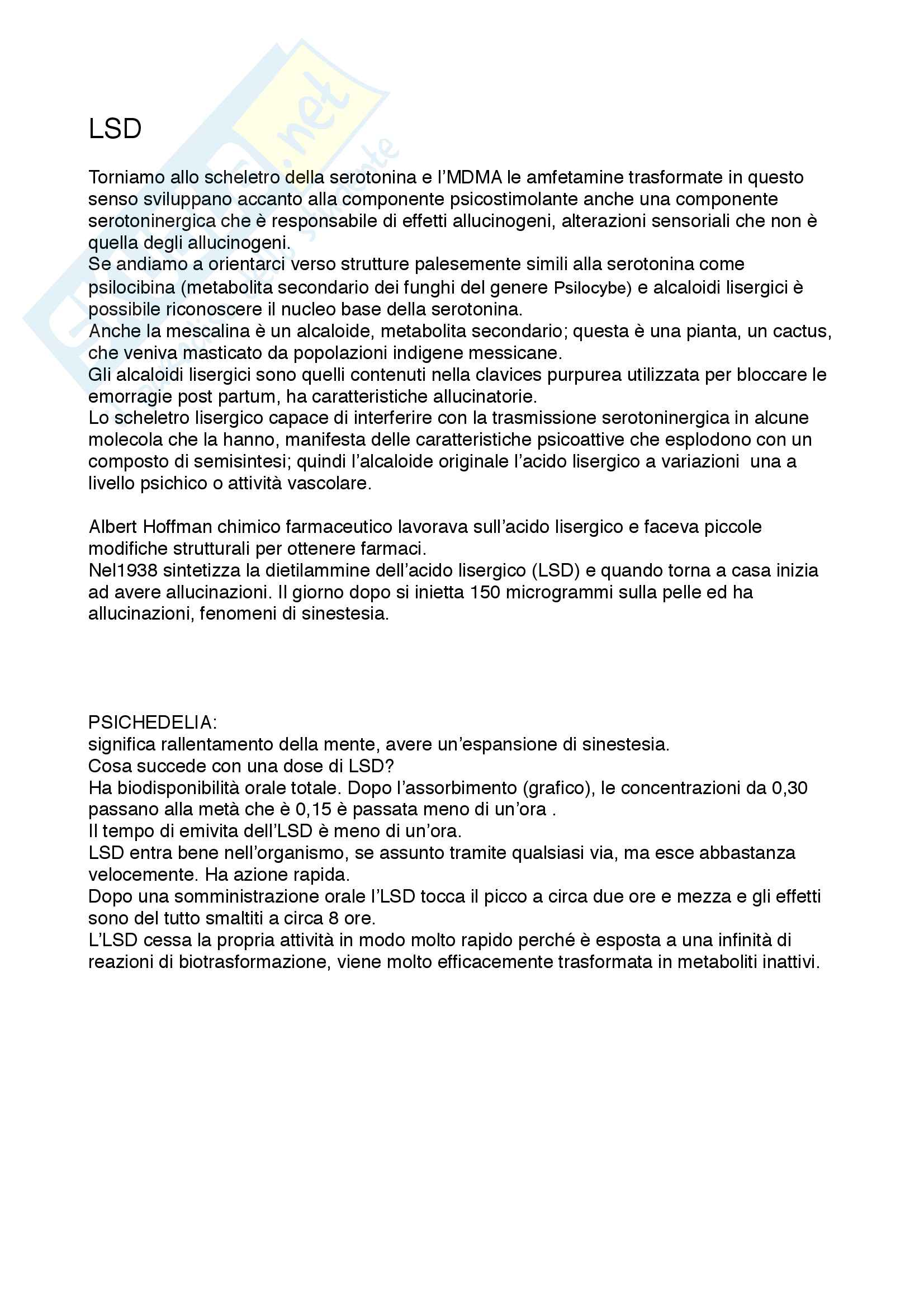 Dipendenze patologiche e farmacologia delle sostanze d abuso Pag. 21
