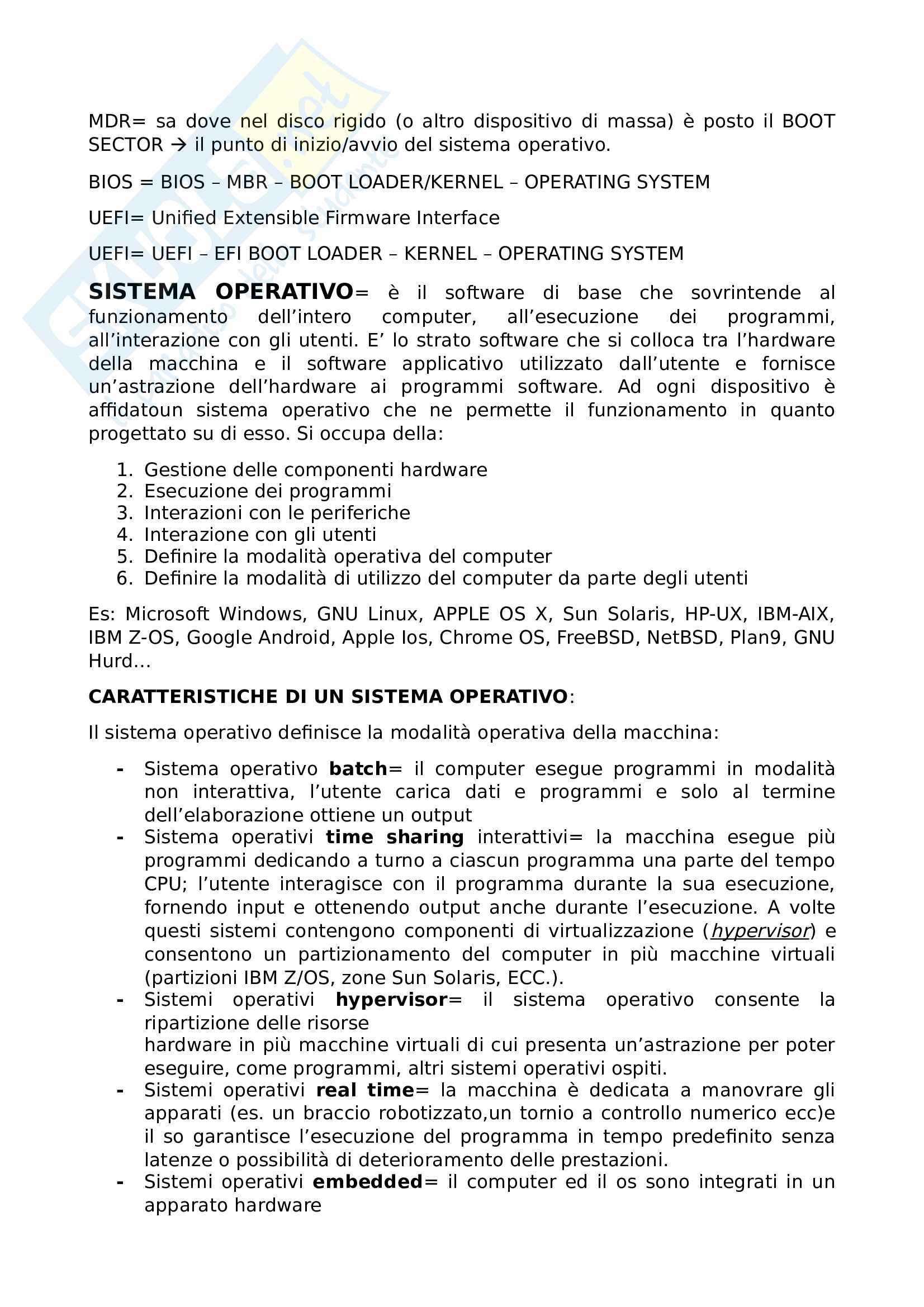 Riassunto esame informatica Prof. Avola Pag. 2