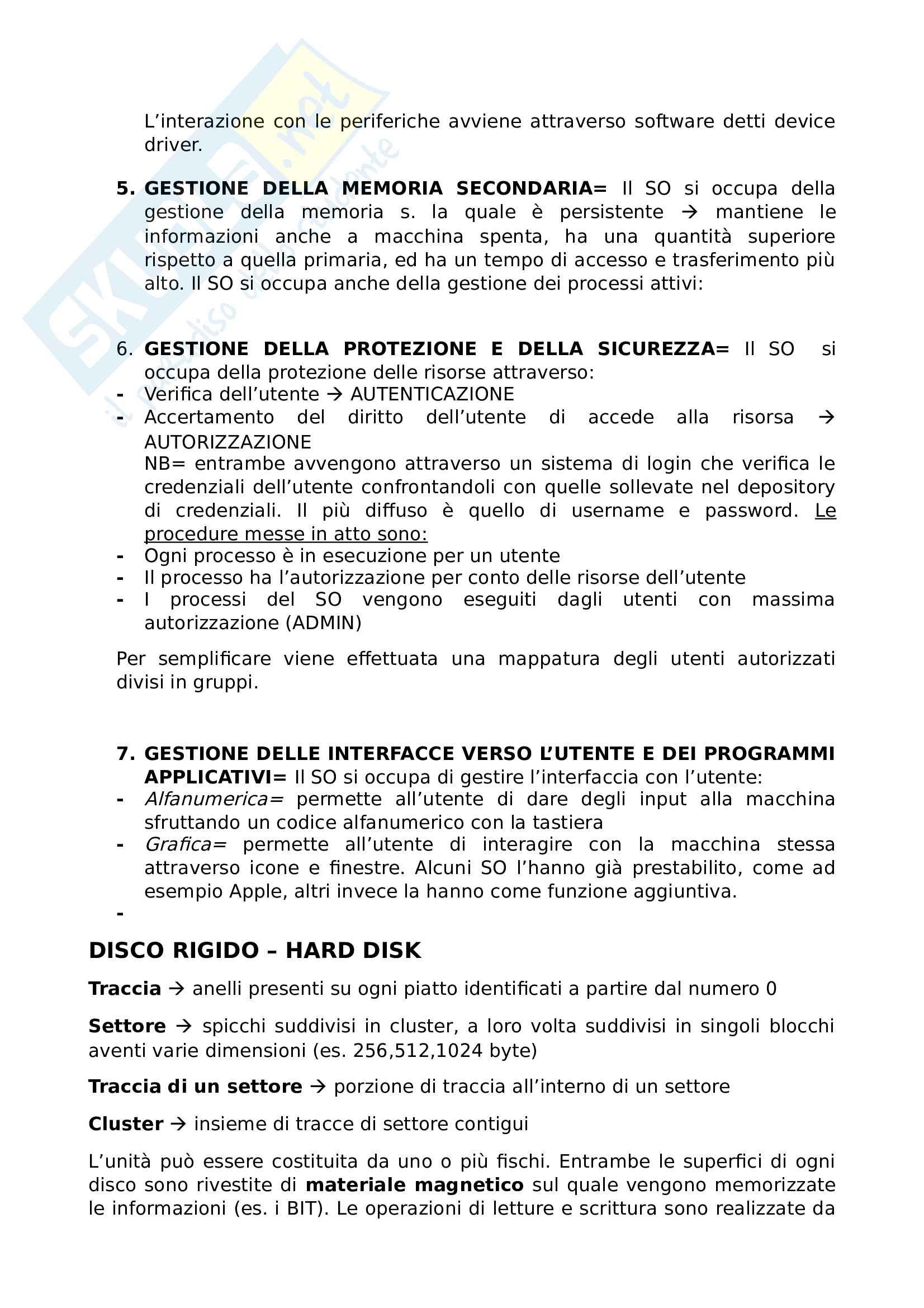 Riassunto esame informatica Prof. Avola Pag. 6
