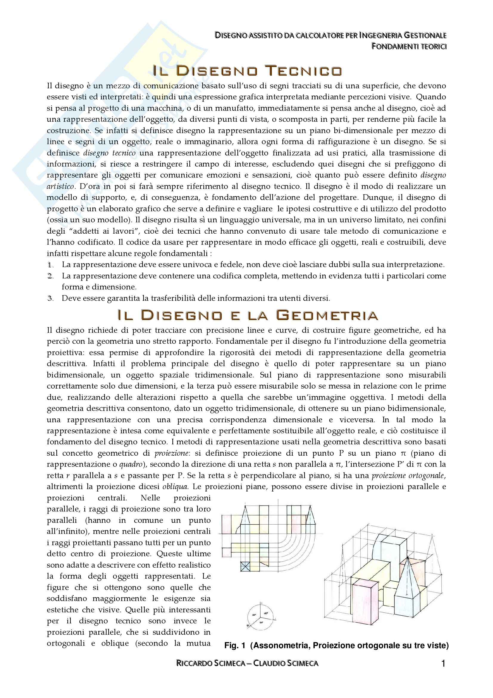 Disegno assistito da calcolatore - Appunti