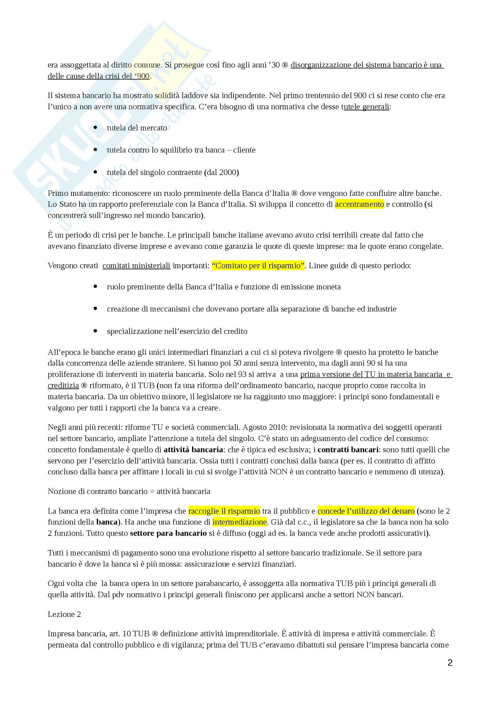 Lezioni, Diritto bancario Pag. 2