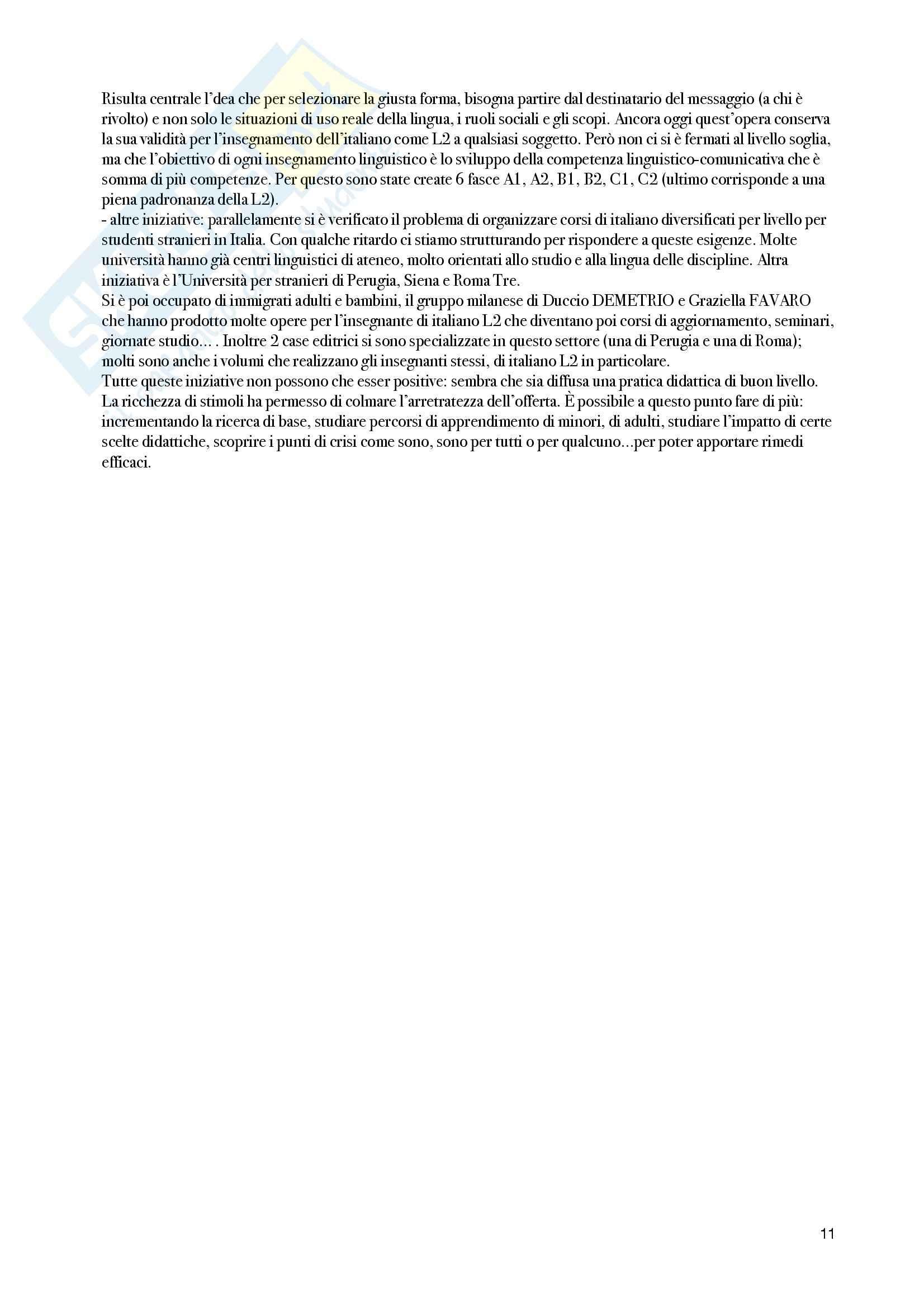 Riassunto esame Linguistica italiana, prof. Colussi, libro consigliato Lingua italiana ed educazione linguistica, Loduca Pag. 11
