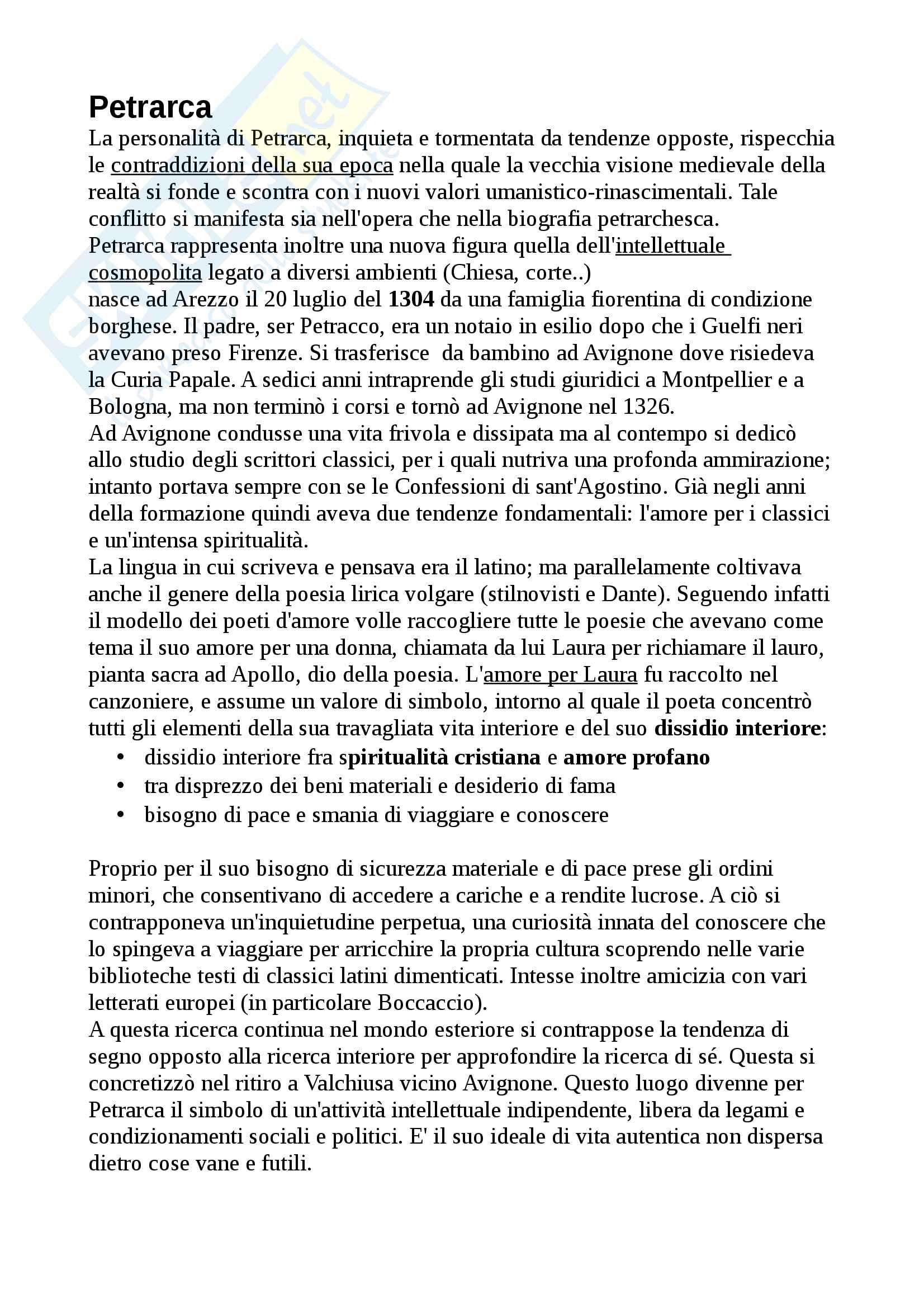 appunto M. Ciccuto Letteratura italiana