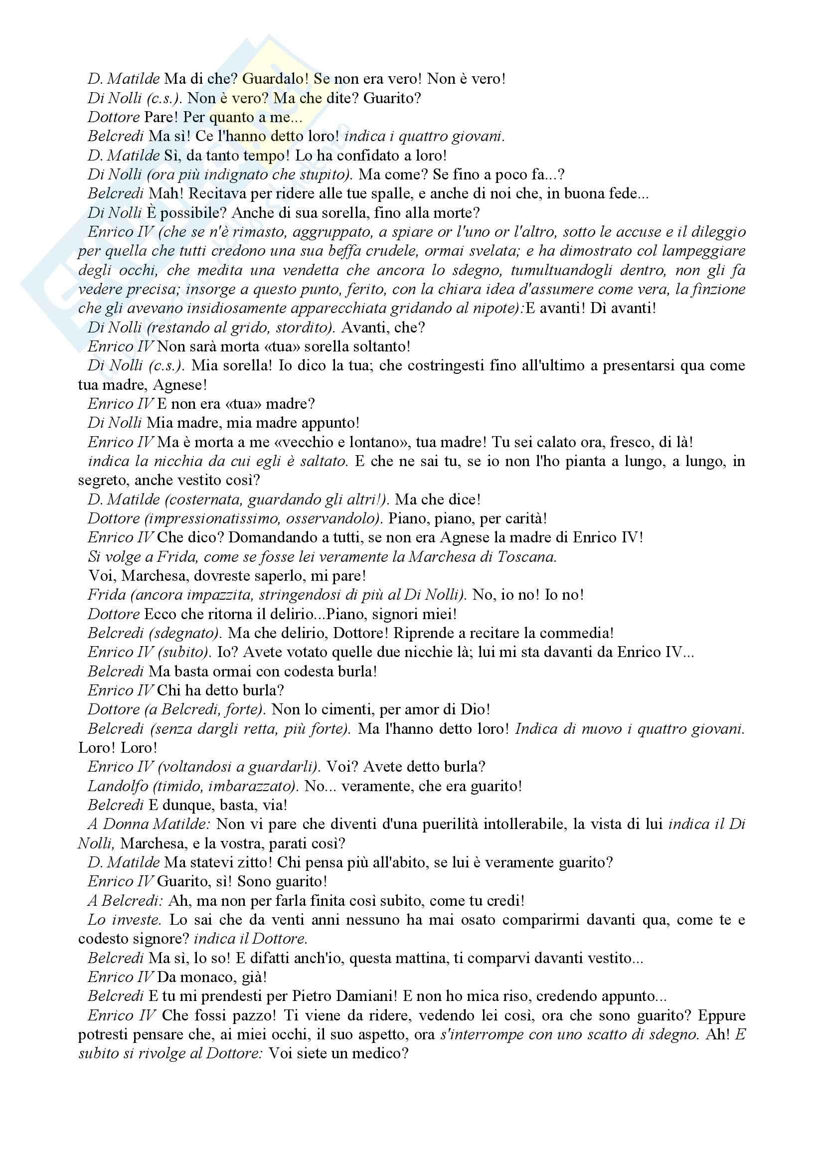 Letteratura teatrale italiana - Enrico IV Pag. 31