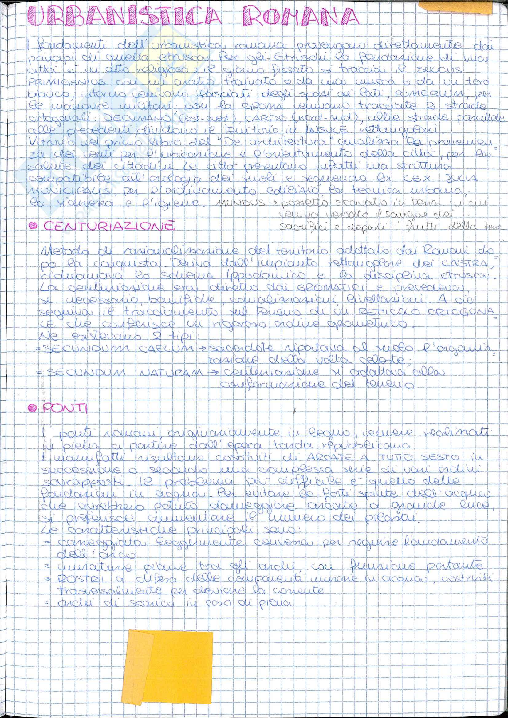 Riassunto esame Storia dell' Architettura ed Estetica, prof. Lerza, libro consigliato Architettura romana, Perkins