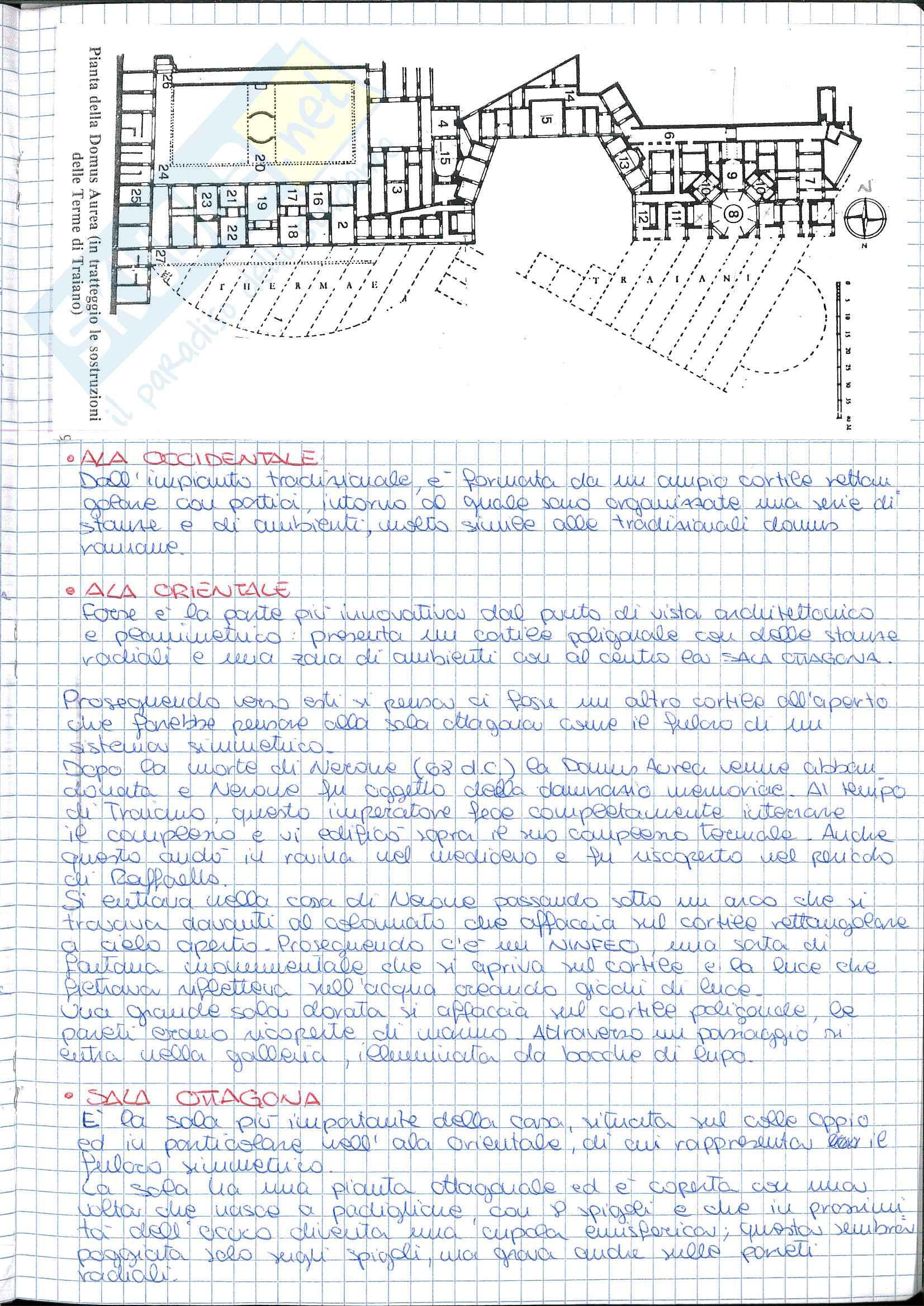 Riassunto esame Storia dell' Architettura ed Estetica, prof. Lerza, libro consigliato Architettura romana, Perkins Pag. 21
