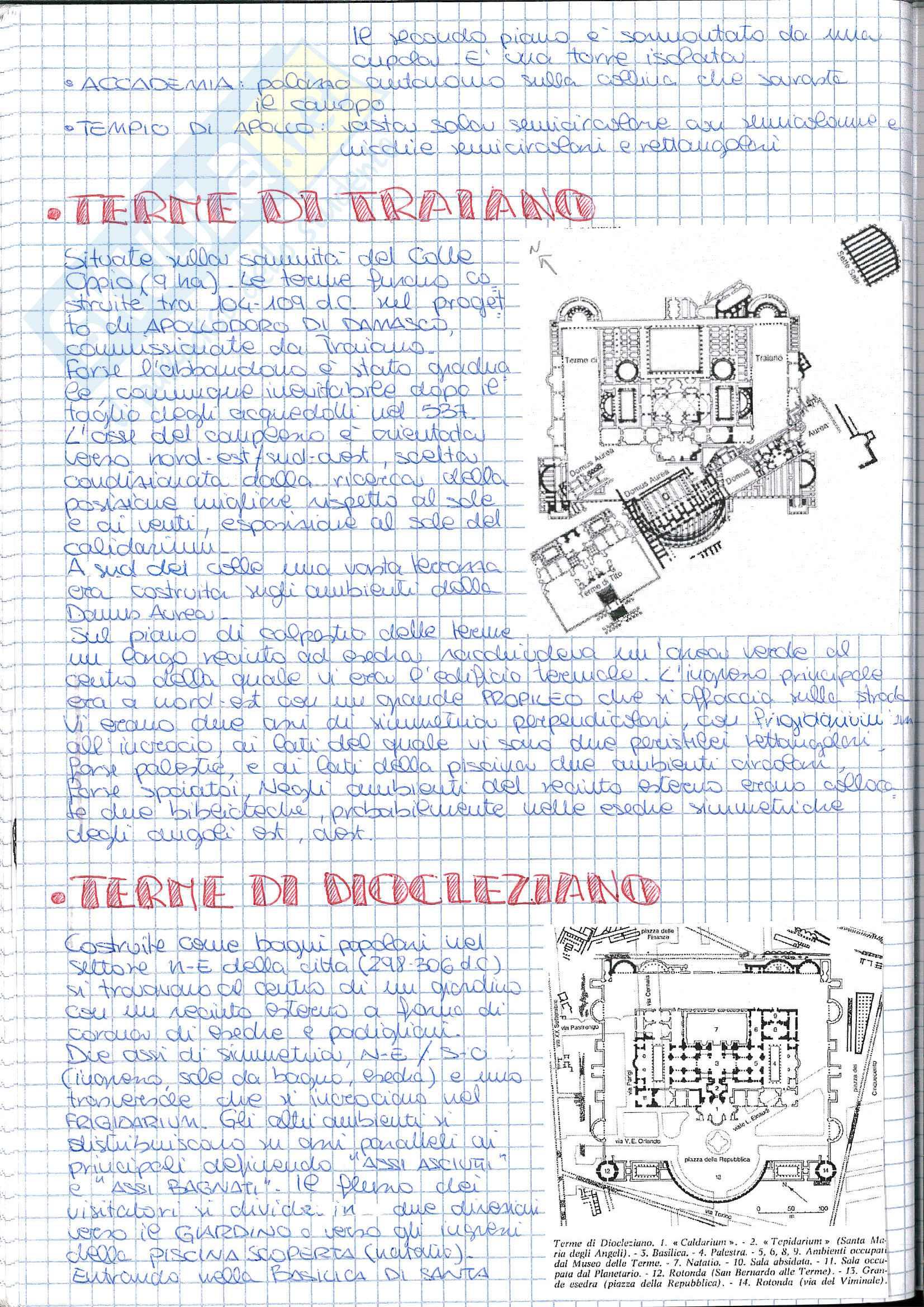Riassunto esame Storia dell' Architettura ed Estetica, prof. Lerza, libro consigliato Architettura romana, Perkins Pag. 26