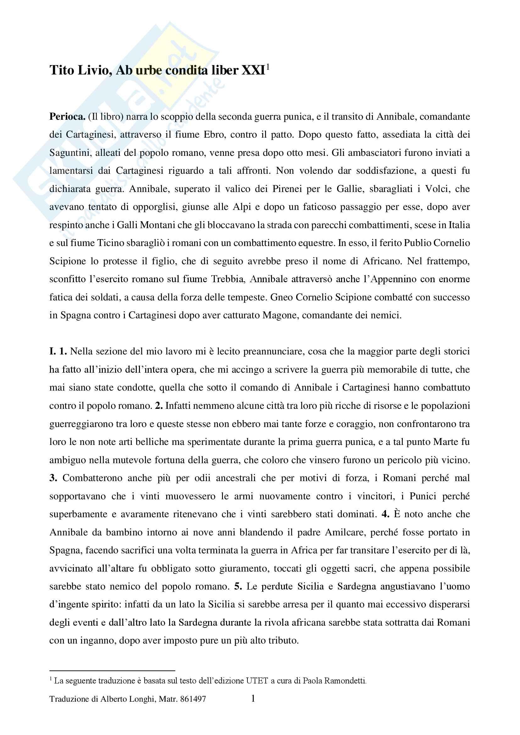 Tito Livio Libro XXI