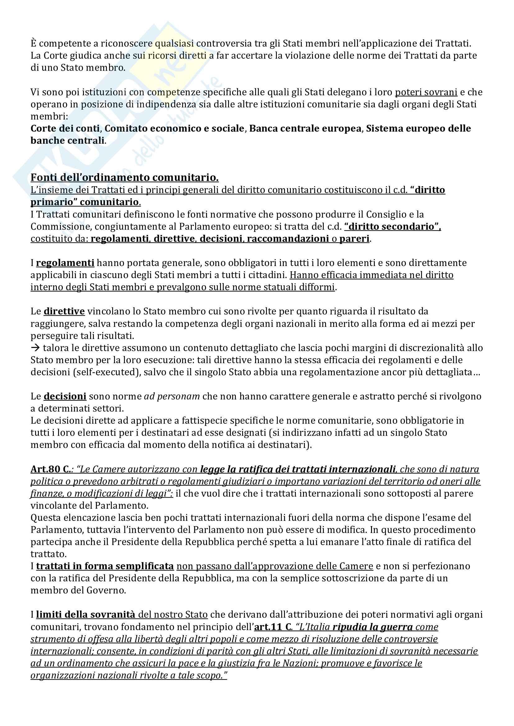 Riassunto esame Istituzioni di Diritto Pubblico, prof. Milazzo, libro consigliato Istituzioni di Diritto Pubblico, Barile, Cheli, Grassi Pag. 11