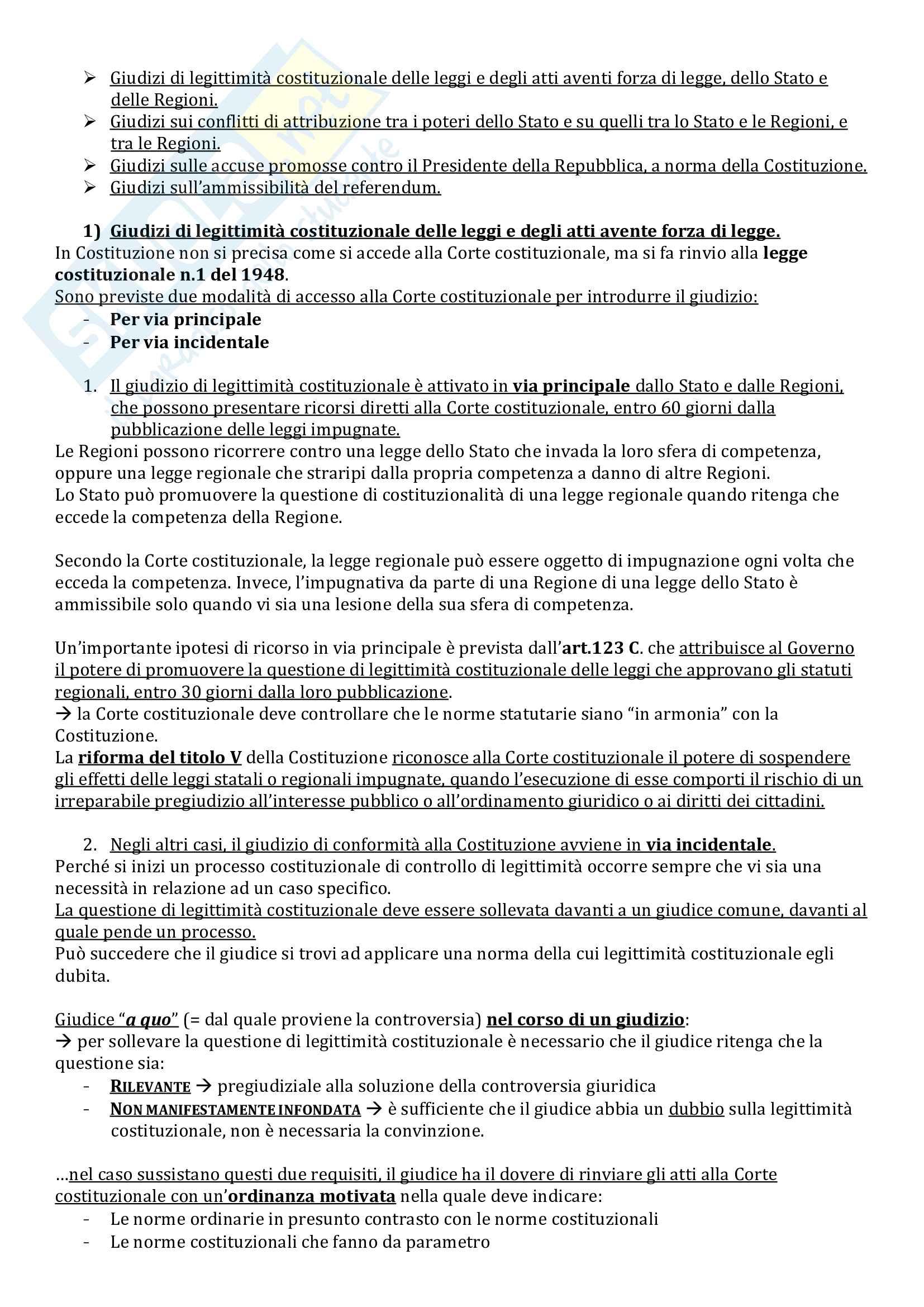 Riassunto esame Istituzioni di Diritto Pubblico, prof. Milazzo, libro consigliato Istituzioni di Diritto Pubblico, Barile, Cheli, Grassi Pag. 36