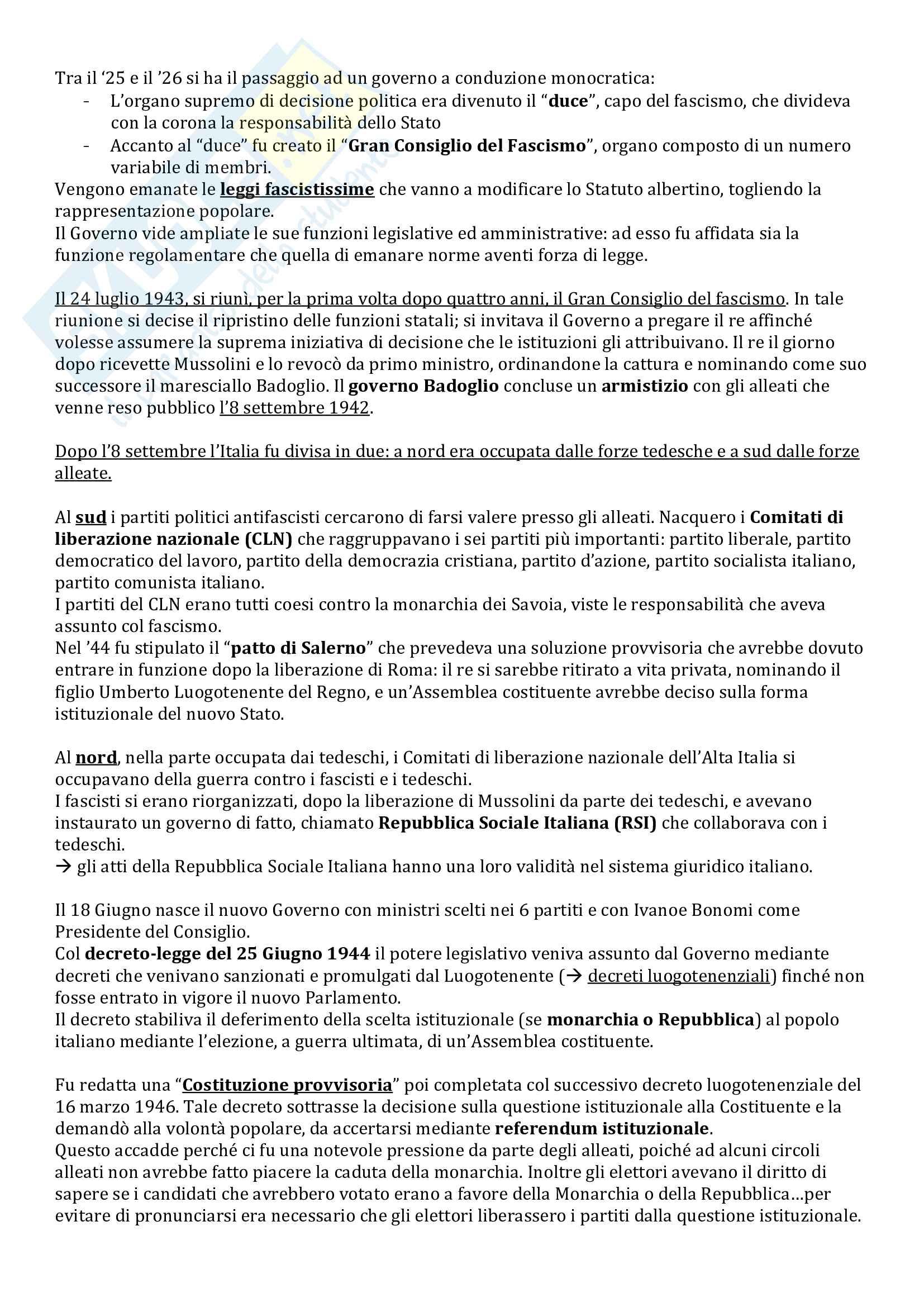 Riassunto esame Istituzioni di Diritto Pubblico, prof. Milazzo, libro consigliato Istituzioni di Diritto Pubblico, Barile, Cheli, Grassi Pag. 6