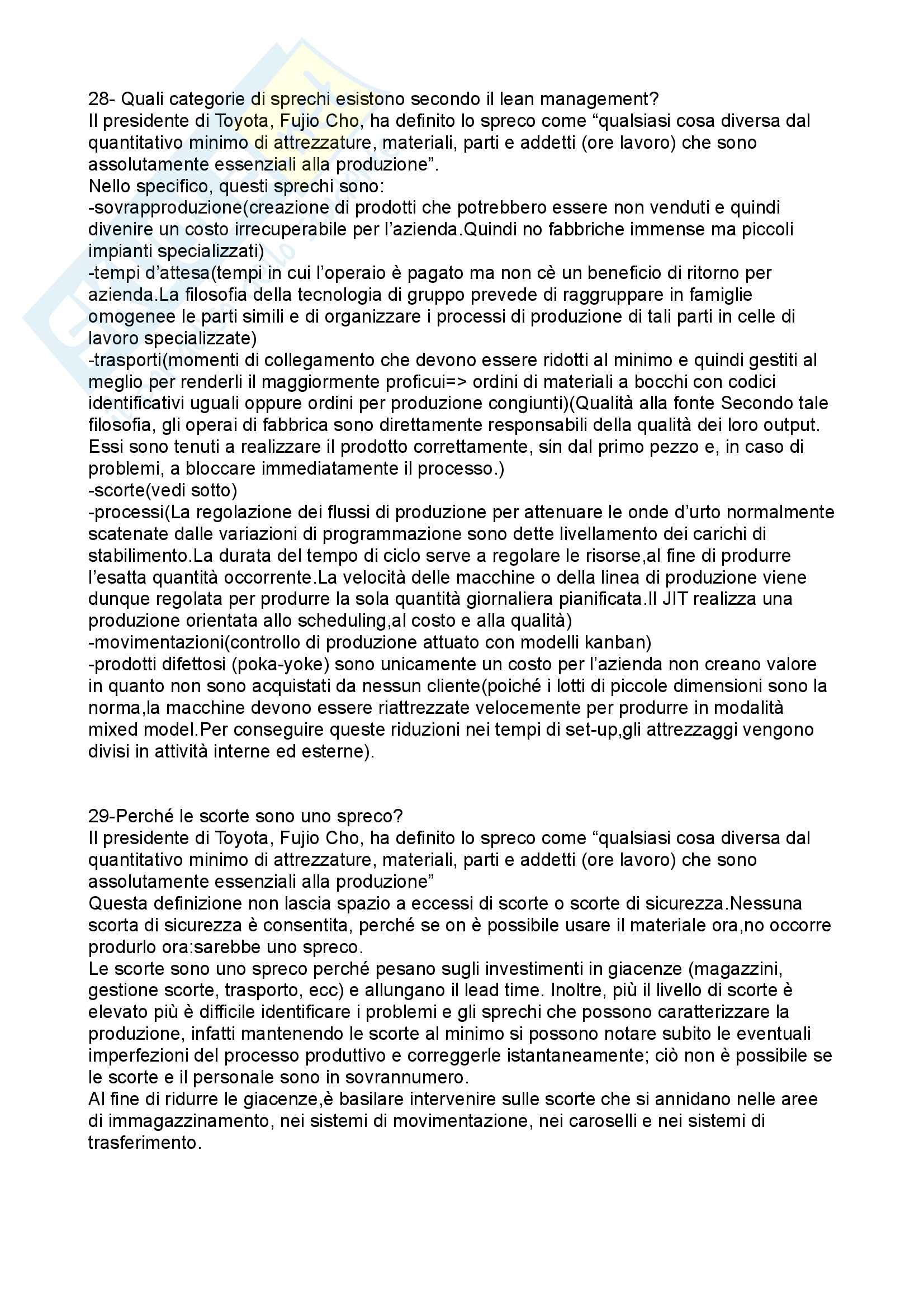 Economia e Gestione delle imprese - Domande e risposte esame Pag. 16