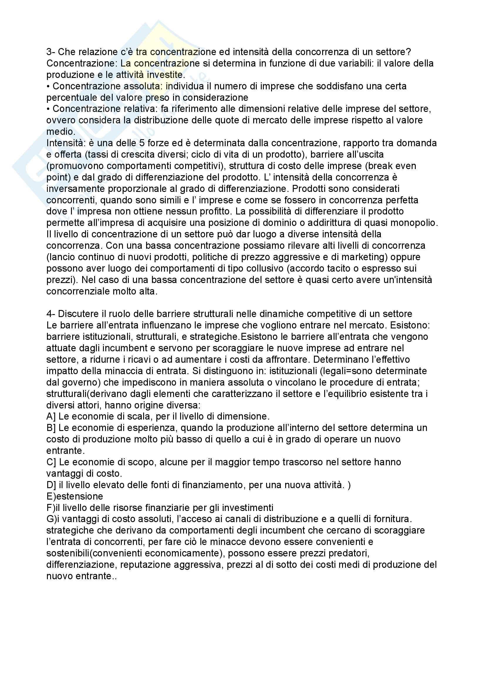 Economia e Gestione delle imprese - Domande e risposte esame Pag. 2
