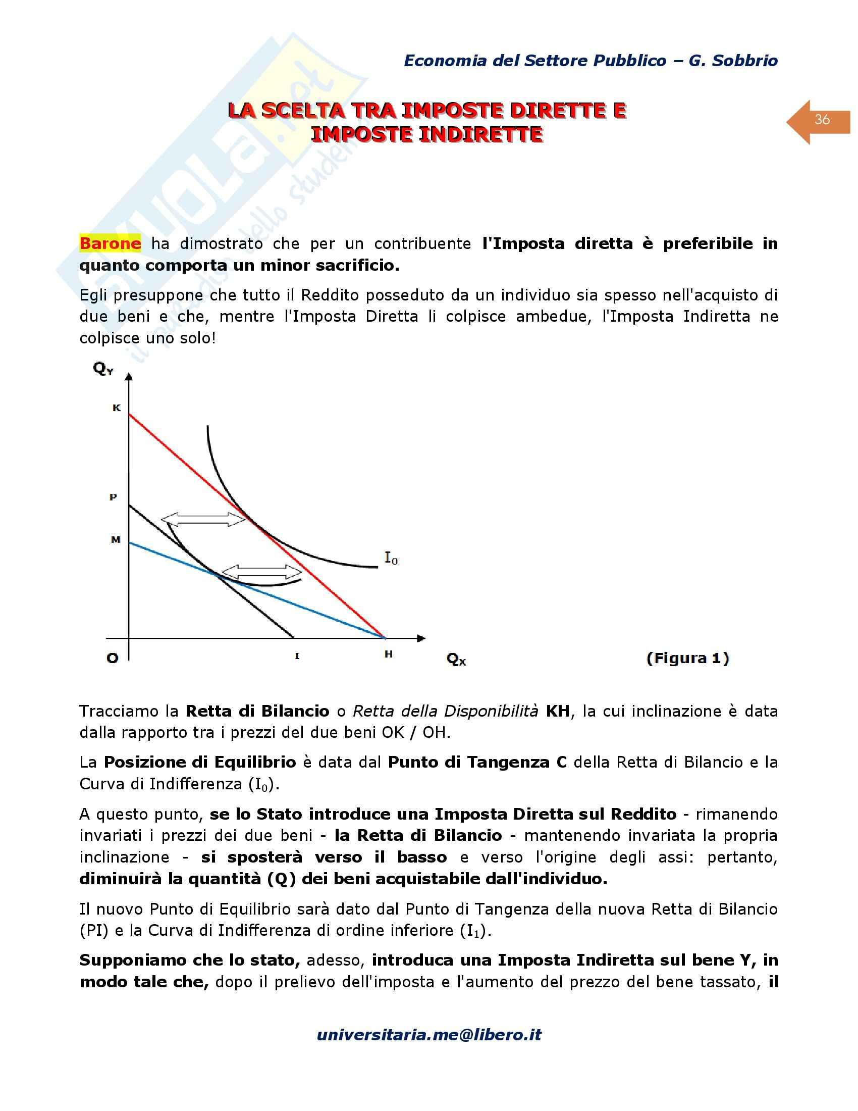 Riassunto esame Scienze Finanze, prof. D'Agostino, libro consigliato Economia del Settore Pubblico, Sobbrio Pag. 36