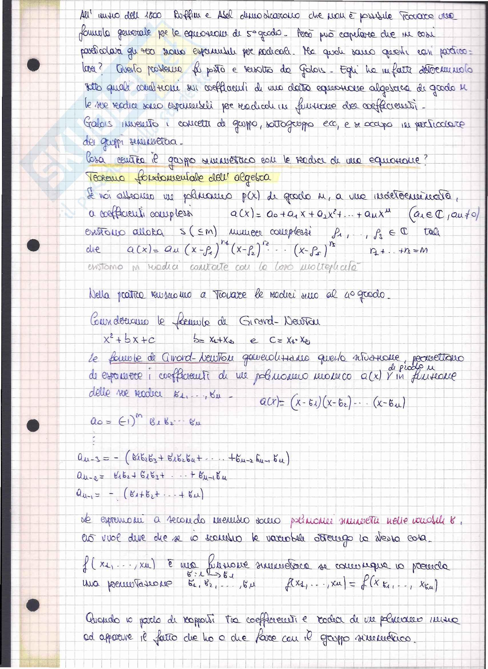 Appunti Esame Algebra Astratta (Teoria Gruppi e Anelli)