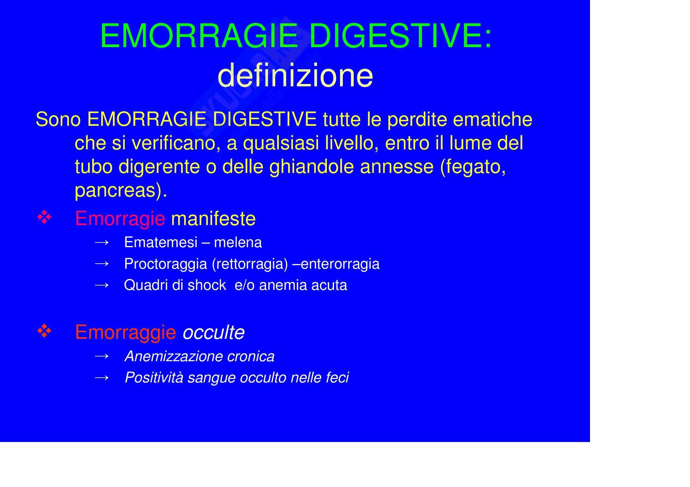 Chirurgia generale - le emorragie digestive Pag. 2