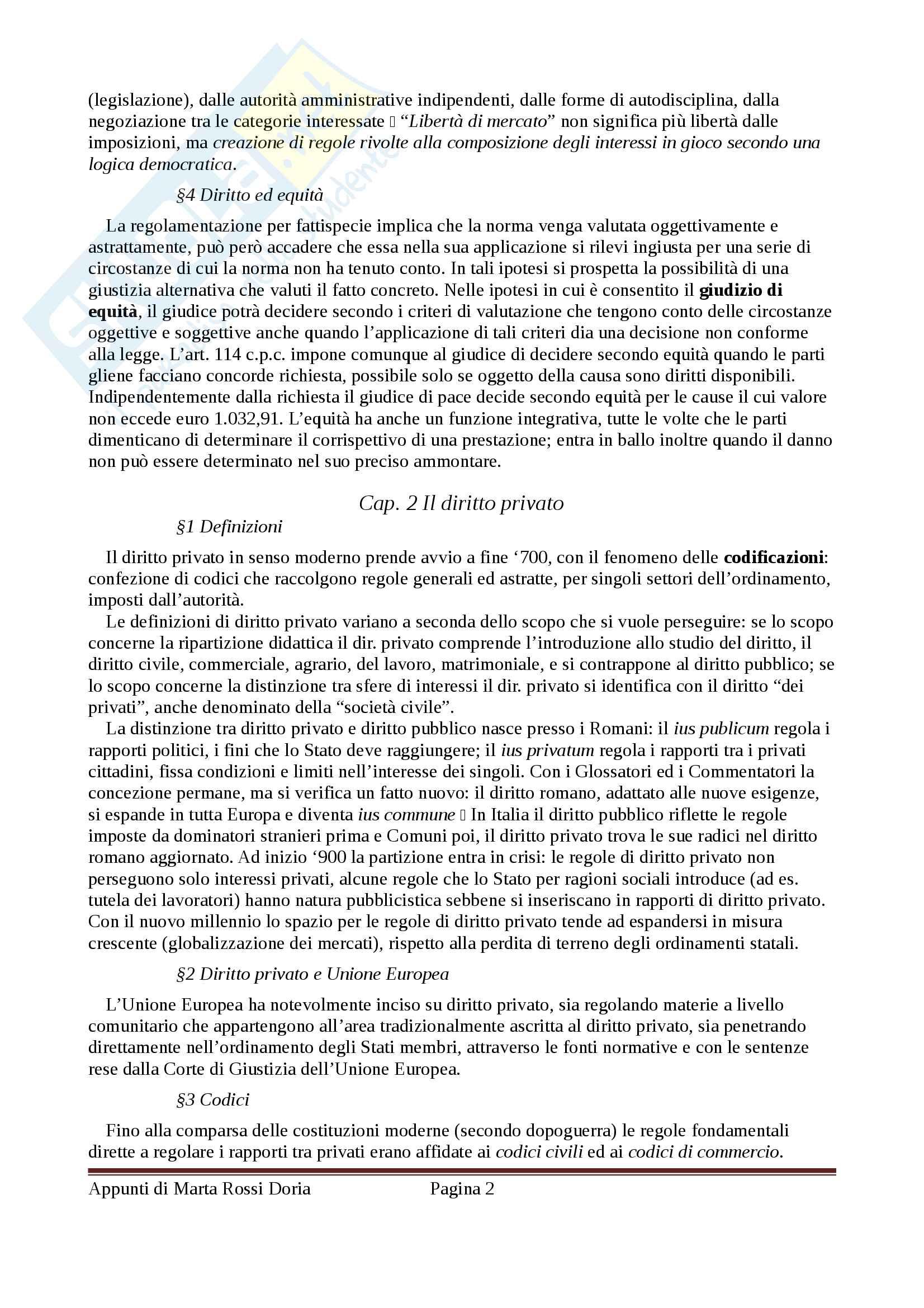 Riassunto esame Diritto Privato, docente Di Porto, libro consigliato Manuale di Diritto Privato, Alpa, integrato con il Torrente-Schlesinger Pag. 2