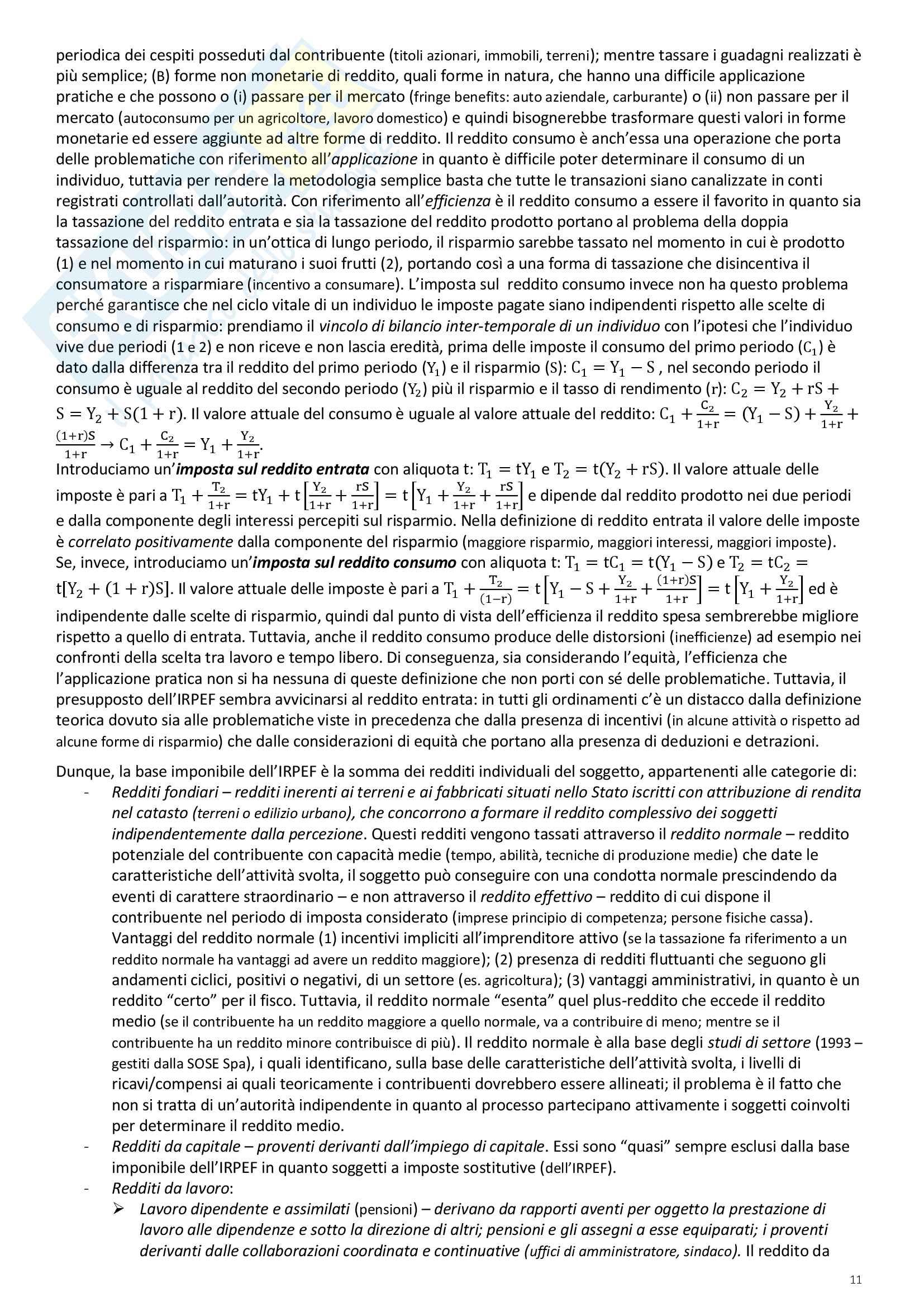 """Riassunto esame Scienze delle Finanze, prof. Ambrosanio, libro consigliato """"Elementi di Scienza delle finanze"""" di Artoni Pag. 11"""
