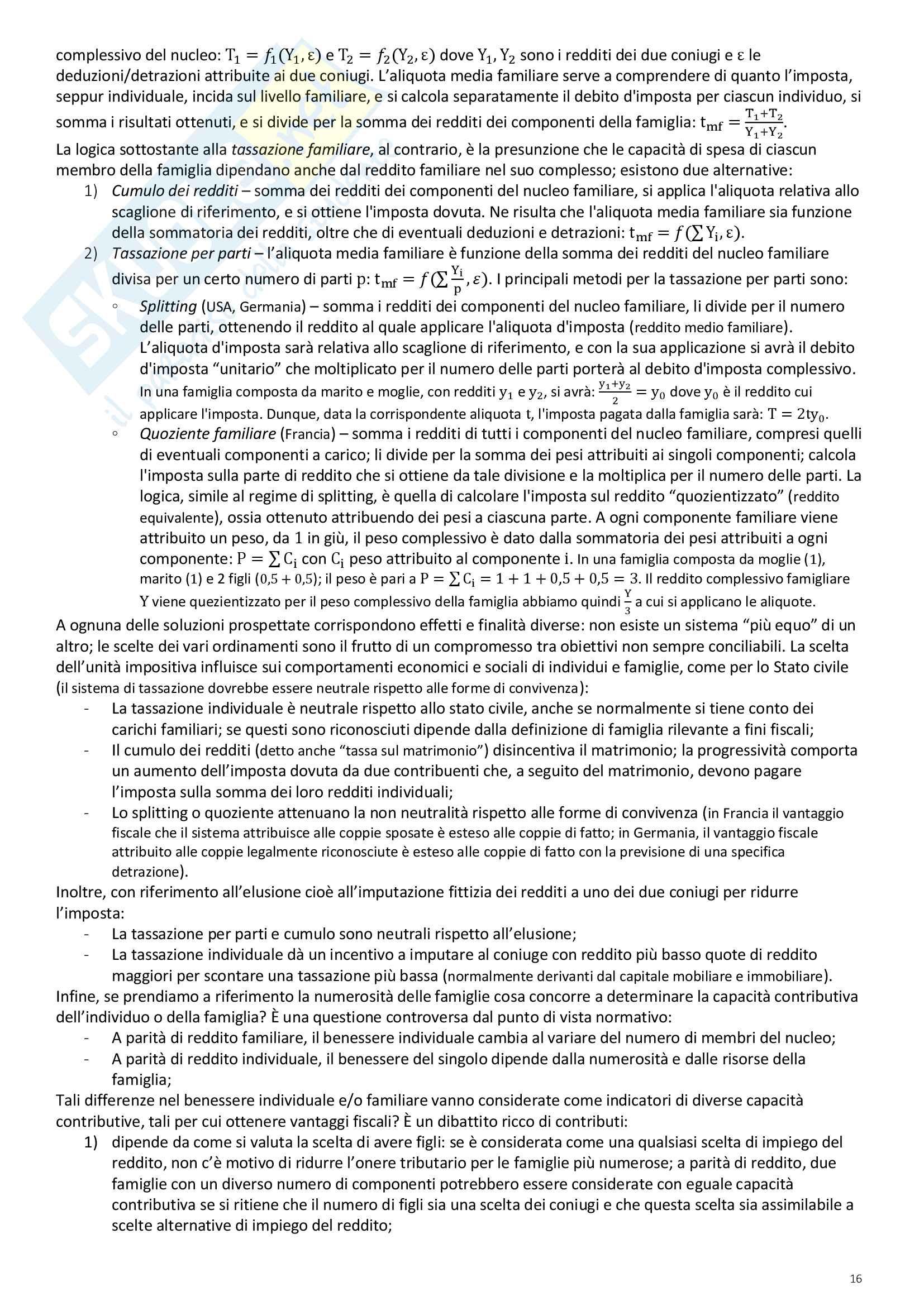 """Riassunto esame Scienze delle Finanze, prof. Ambrosanio, libro consigliato """"Elementi di Scienza delle finanze"""" di Artoni Pag. 16"""
