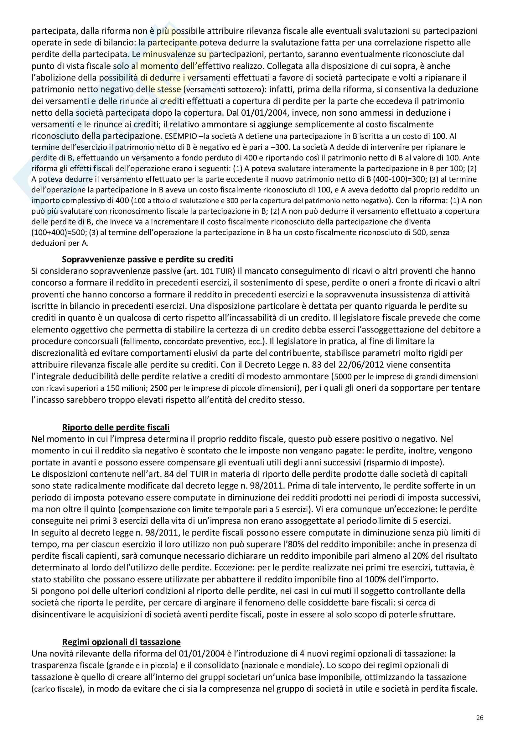"""Riassunto esame Scienze delle Finanze, prof. Ambrosanio, libro consigliato """"Elementi di Scienza delle finanze"""" di Artoni Pag. 26"""