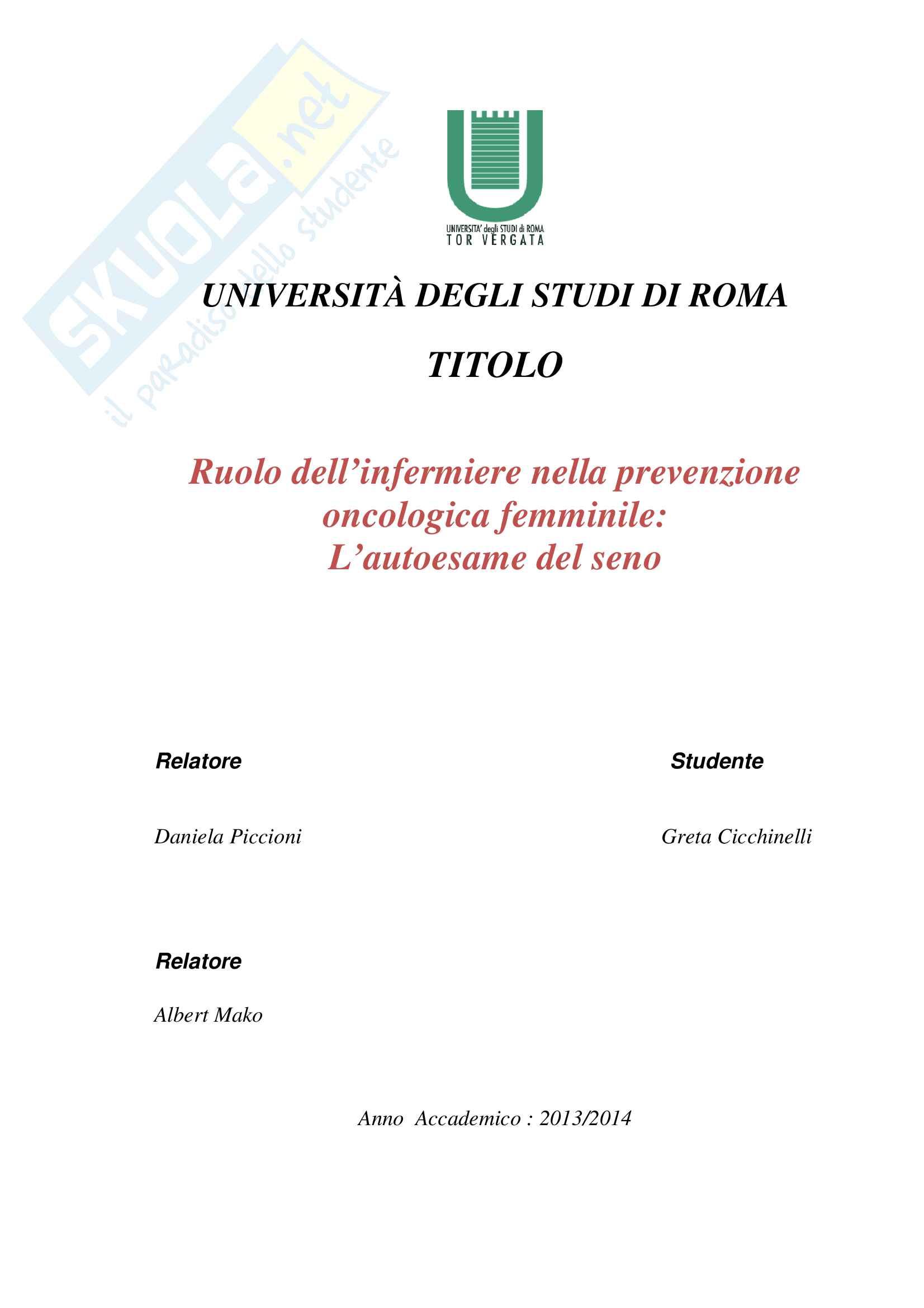 tesi D. Piccioni Infermieristica