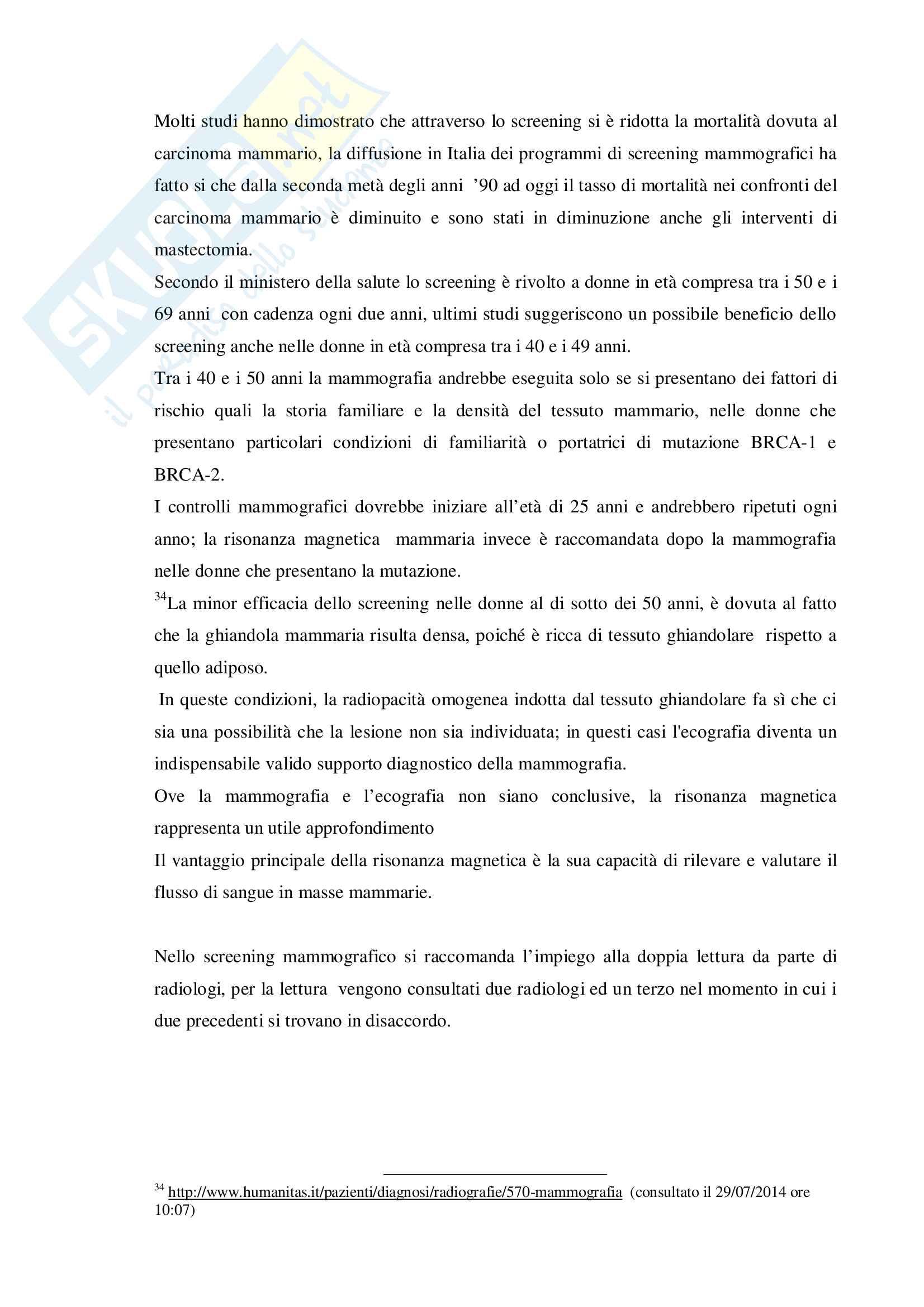 Tesi Ruolo dell'infermiere nella prevenzione oncologica femminile: l'autoesame del seno Pag. 31