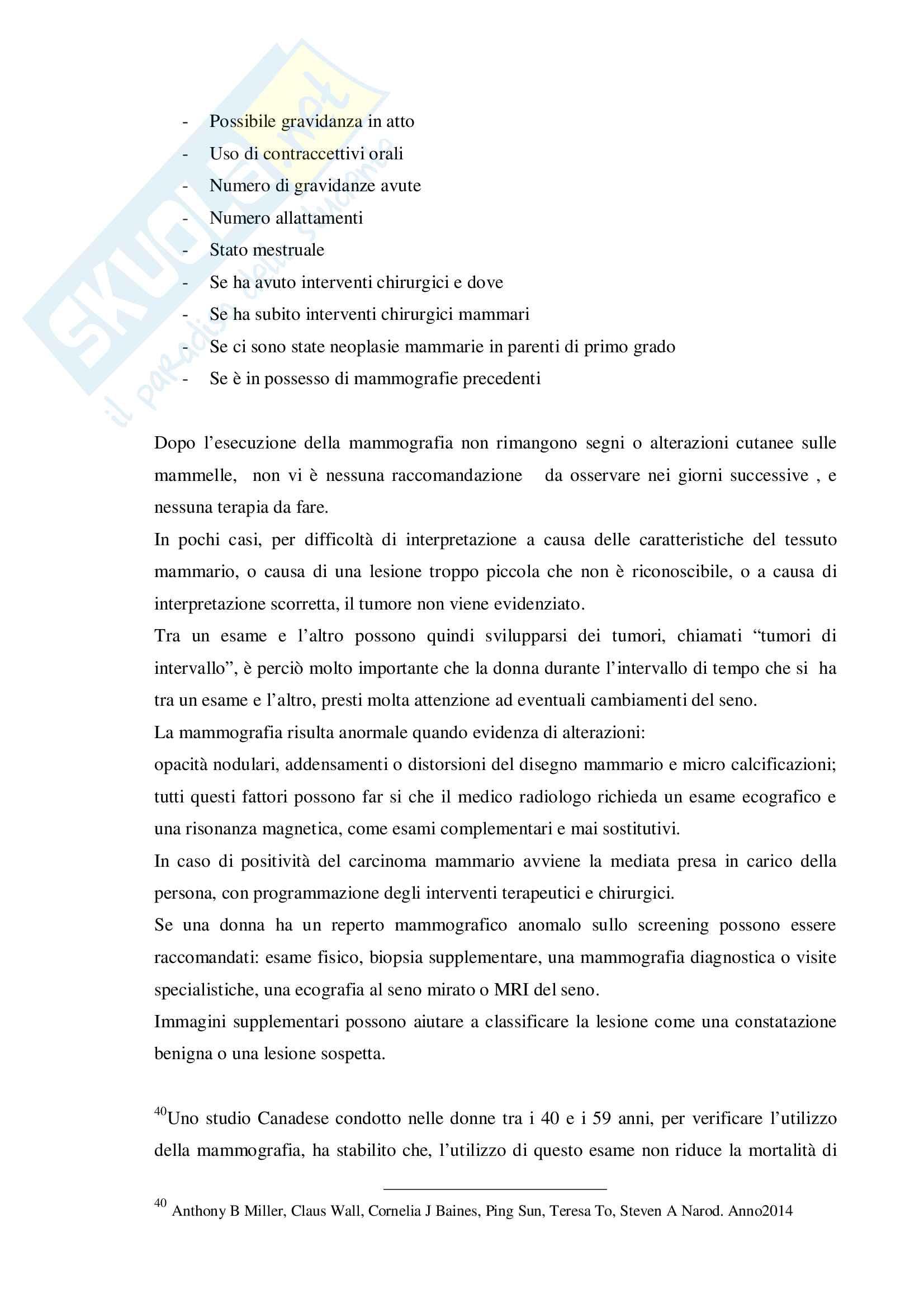 Tesi Ruolo dell'infermiere nella prevenzione oncologica femminile: l'autoesame del seno Pag. 36