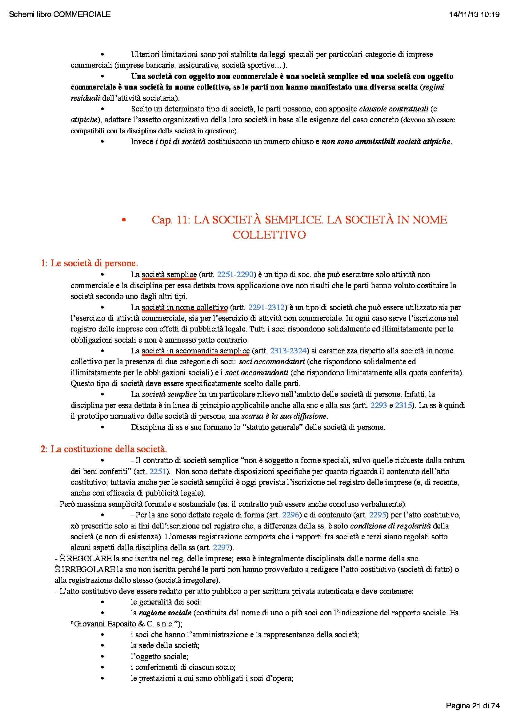 Riassunto esame Istituzioni di diritto commerciale, prof. Butturini, libro consigliato Diritto commerciale, Campobasso Pag. 21