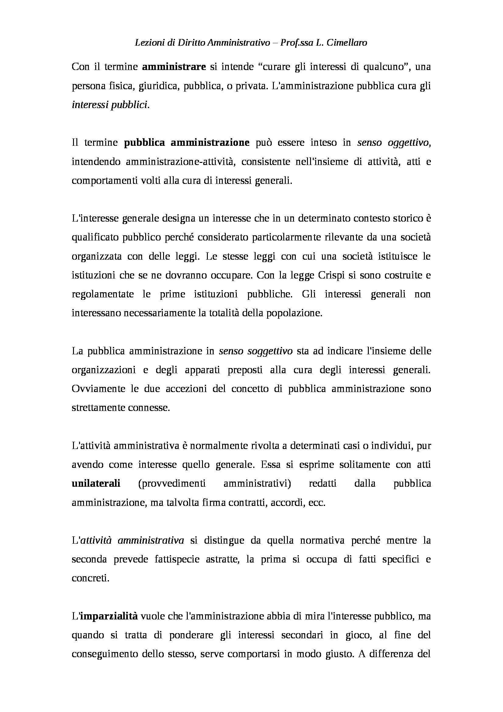 Diritto amministrativo - Appunti